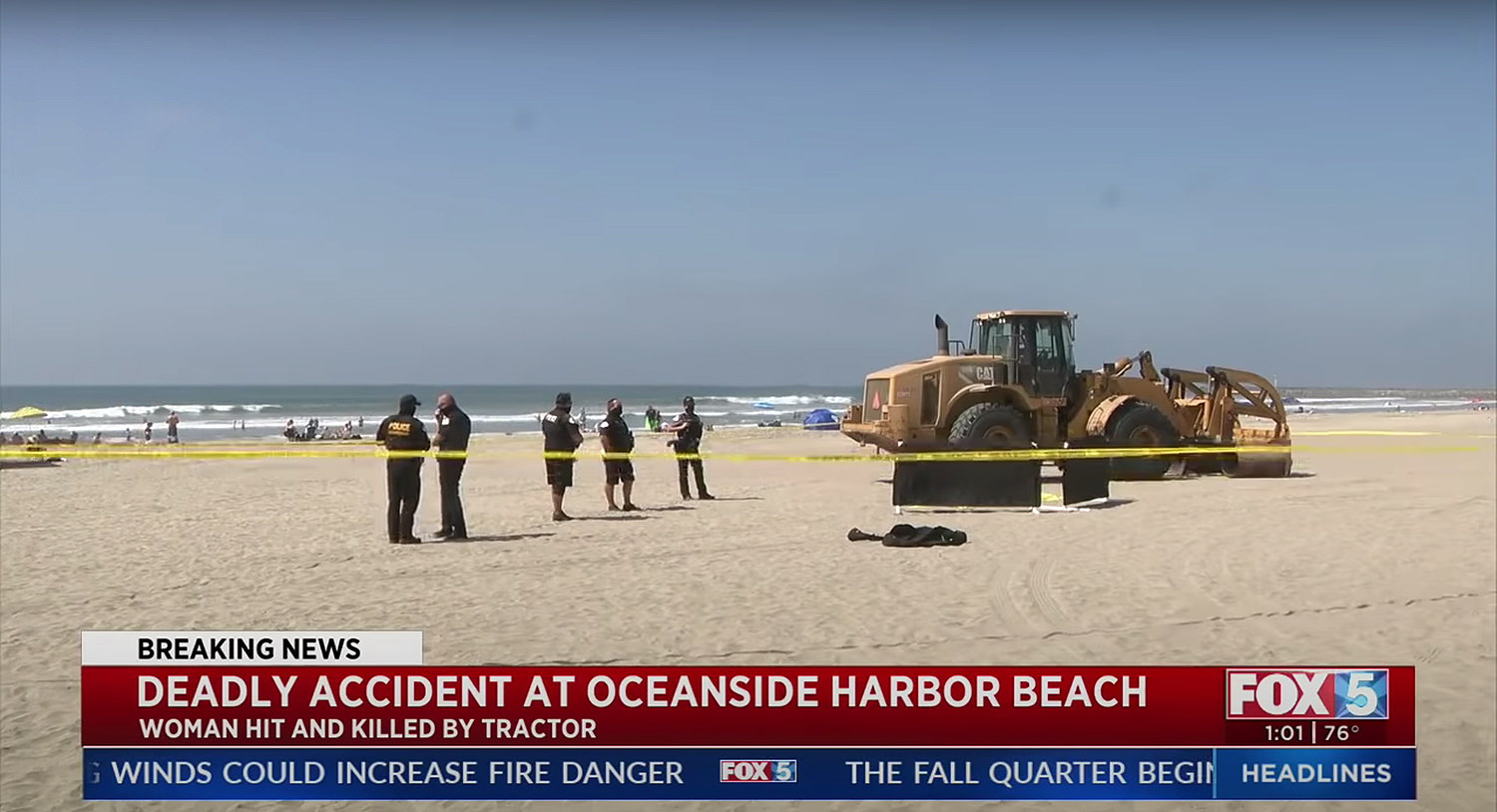 Woman Run Over By Tractor At Oceanside Beach
