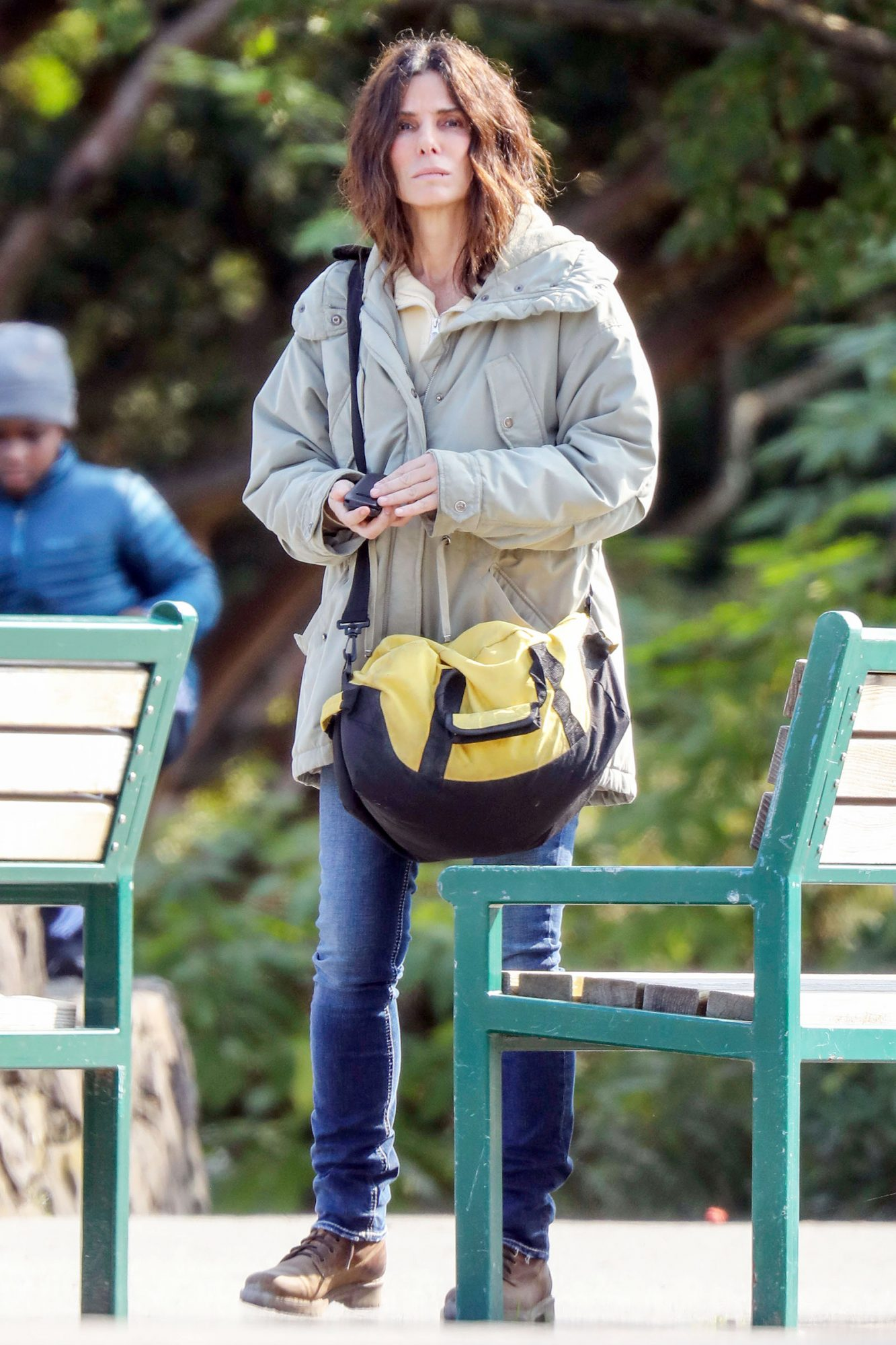 Sandra Bullock is Spotted Back to Work on the Set of a Film Project in Vancouver, Canada.