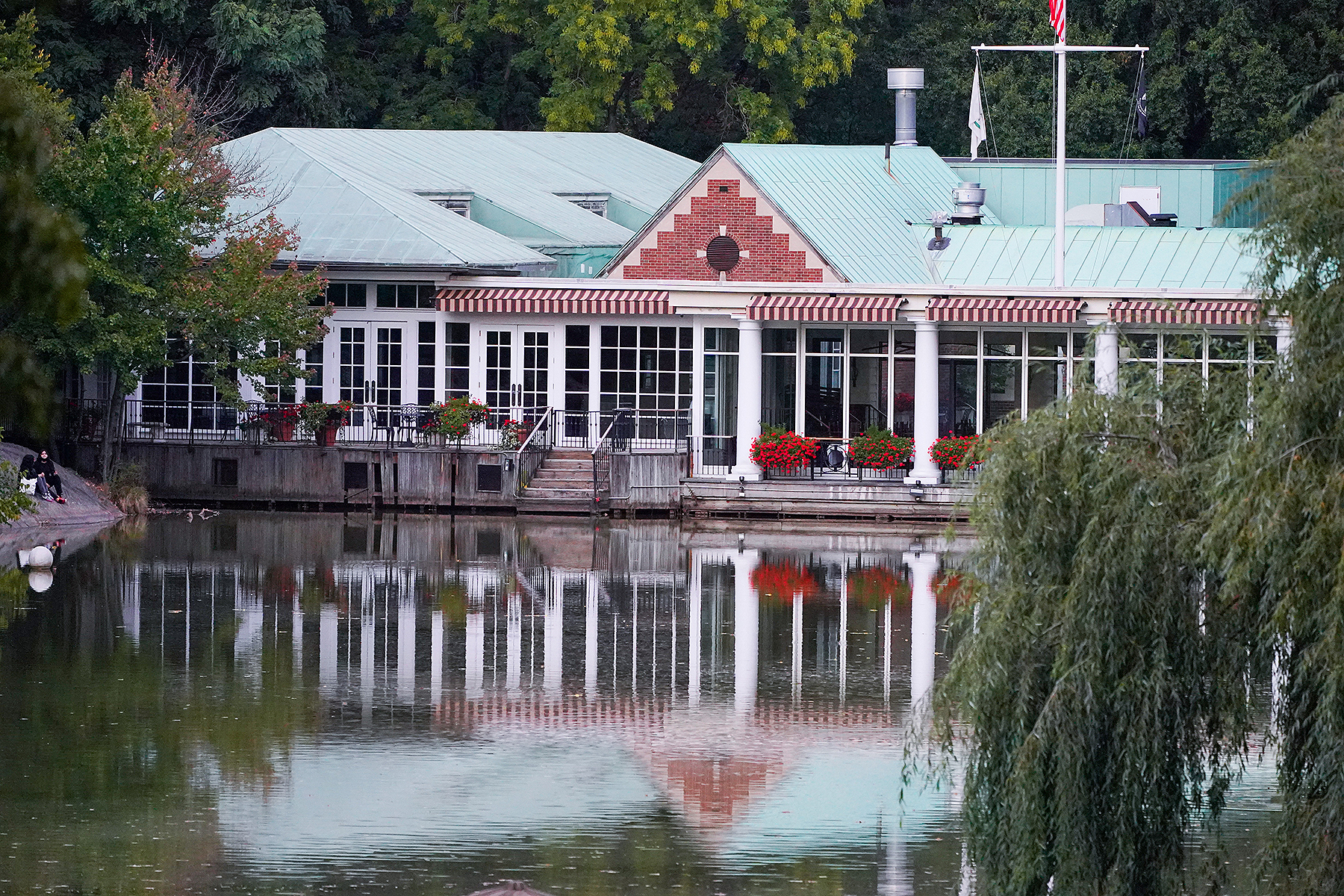A view of the Central Park's historic Loeb Boathouse restaurant.