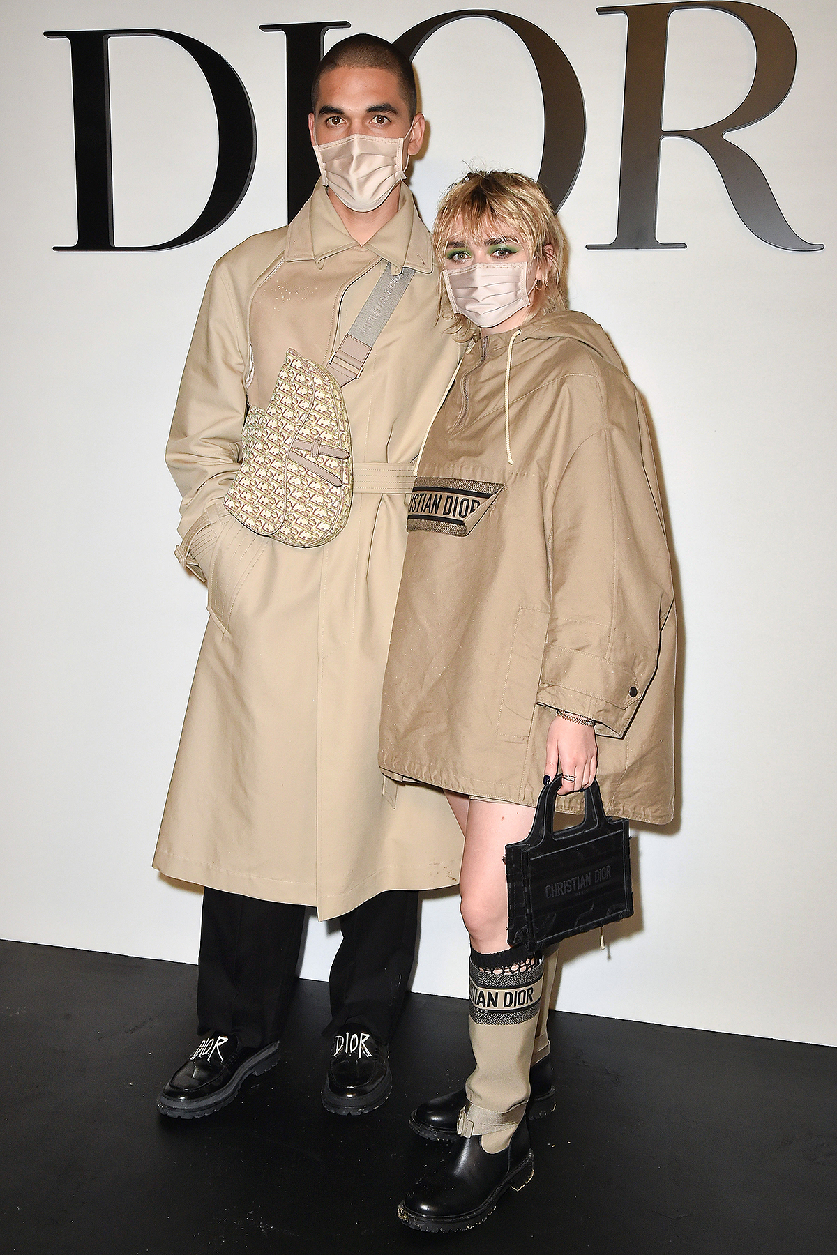 Reuben Selby and Maisie Williams attend the Dior Womenswear Spring/Summer 2021 show as part of Paris Fashion Week on September 29, 2020 in Paris, France.