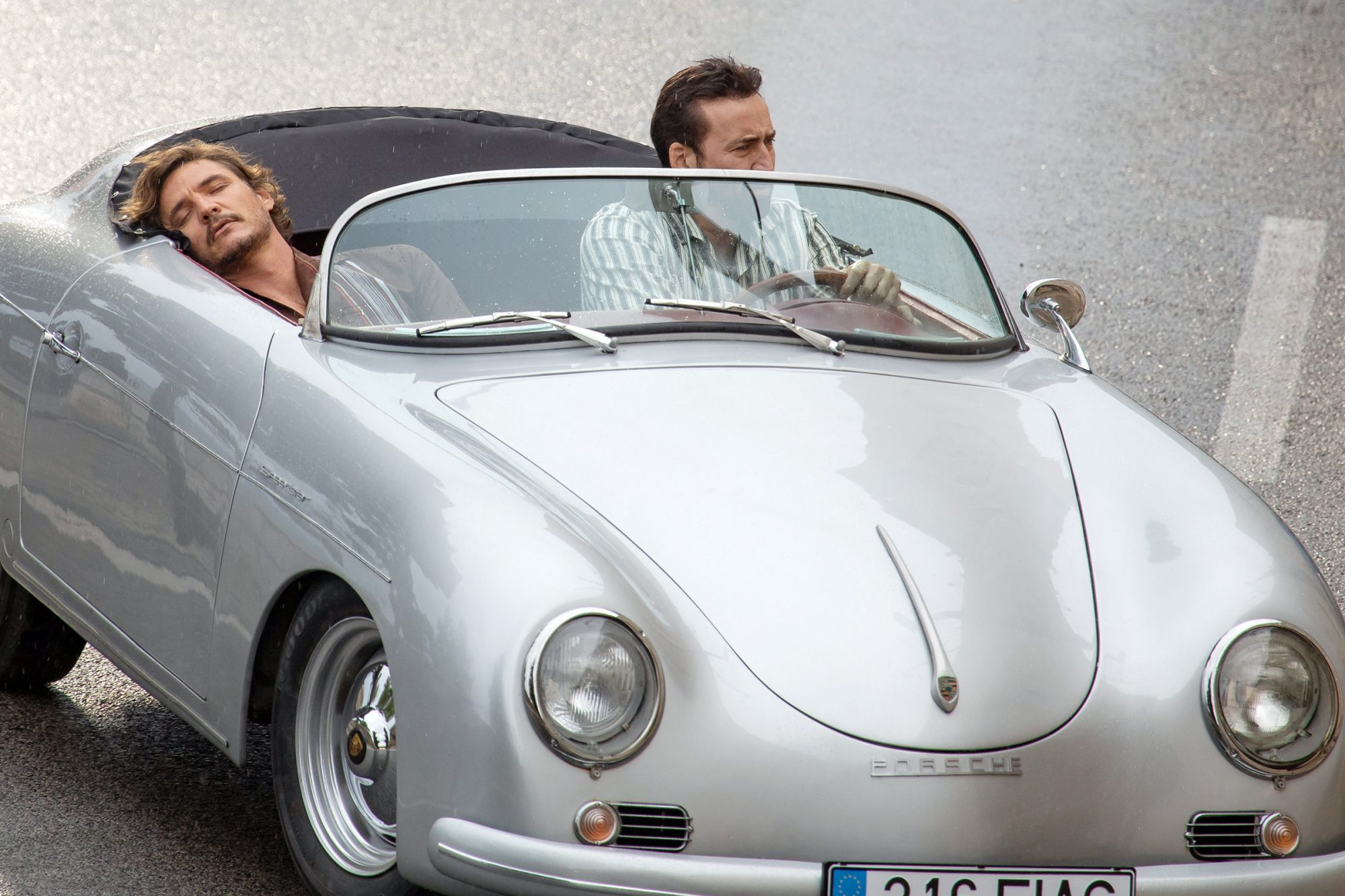 Nicolas Cage And Pedro Pascal Seen In A Silver Porsche Are Filming The Unbearable Weight Of Massive Talent In Dubrovnik