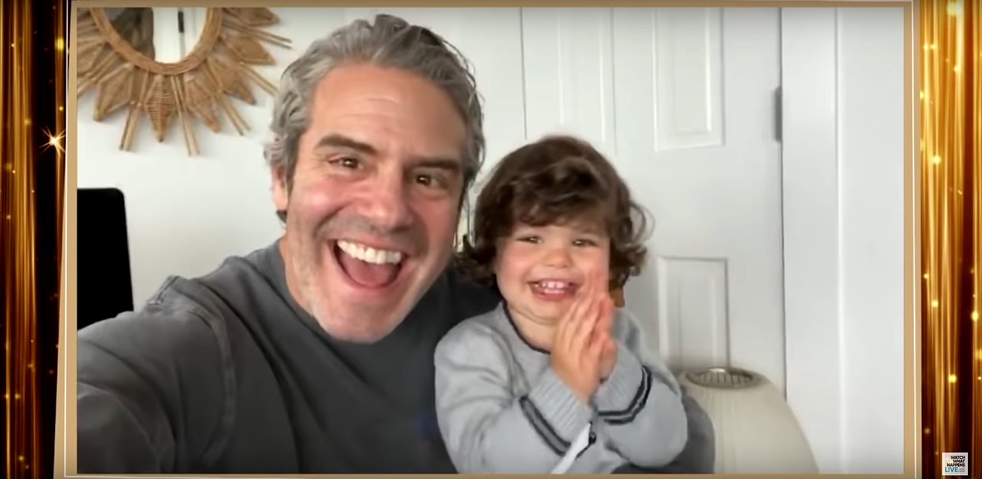 Andy Cohen shows an adorable montage of son Benjamin Cohen's special WWHL at Home appearances