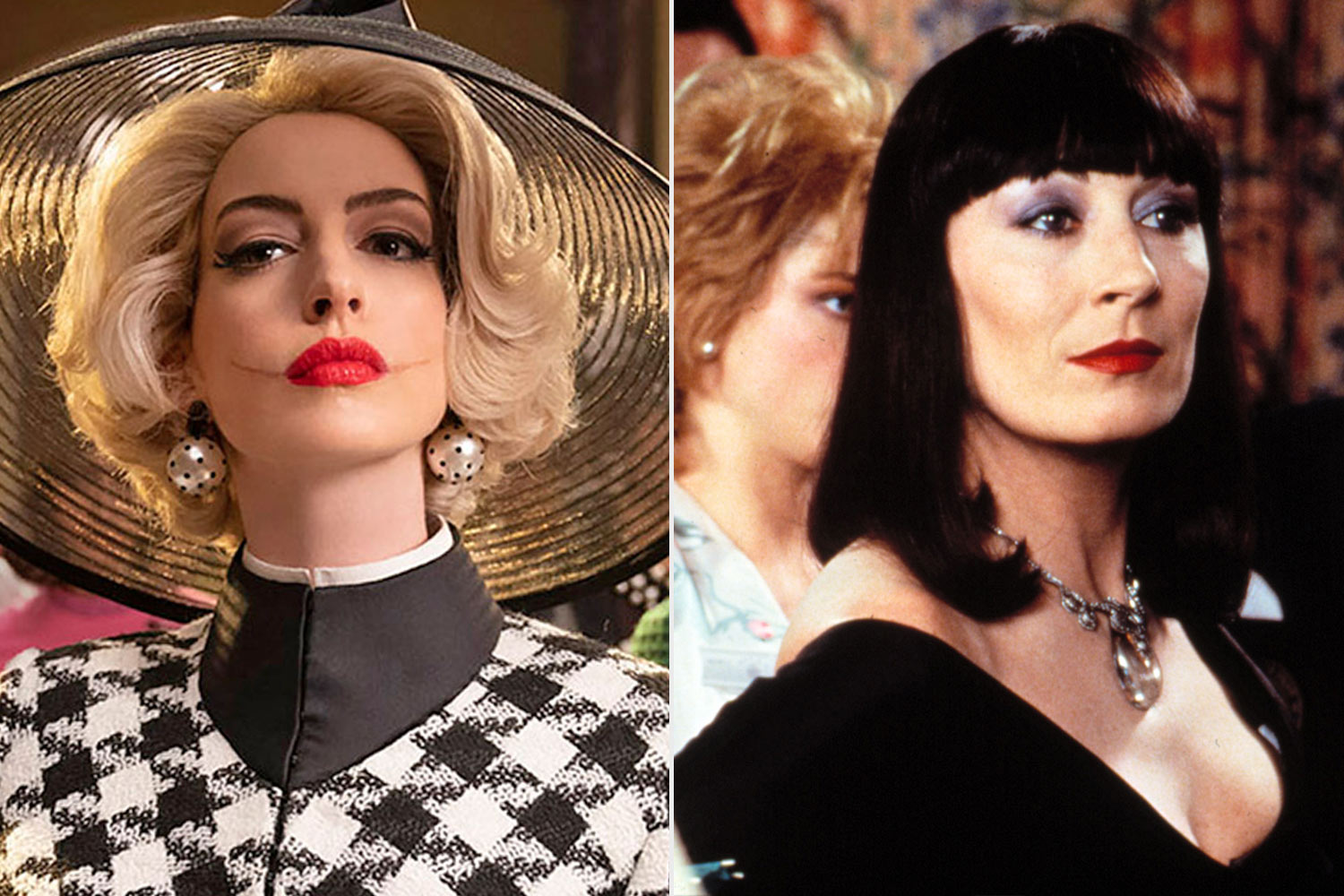 anne hathaway and anjelica huston