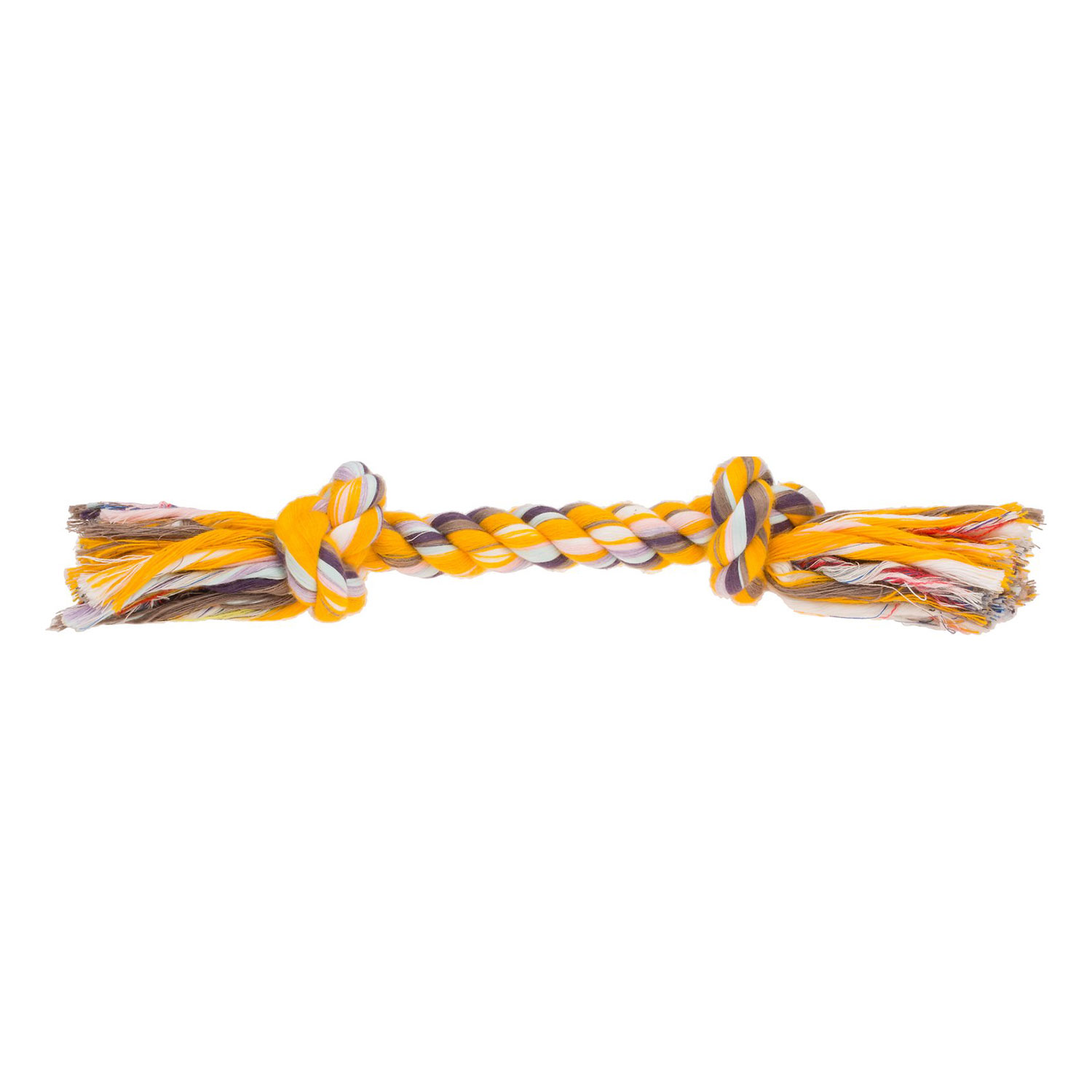 booda multi color knot rope dog toy