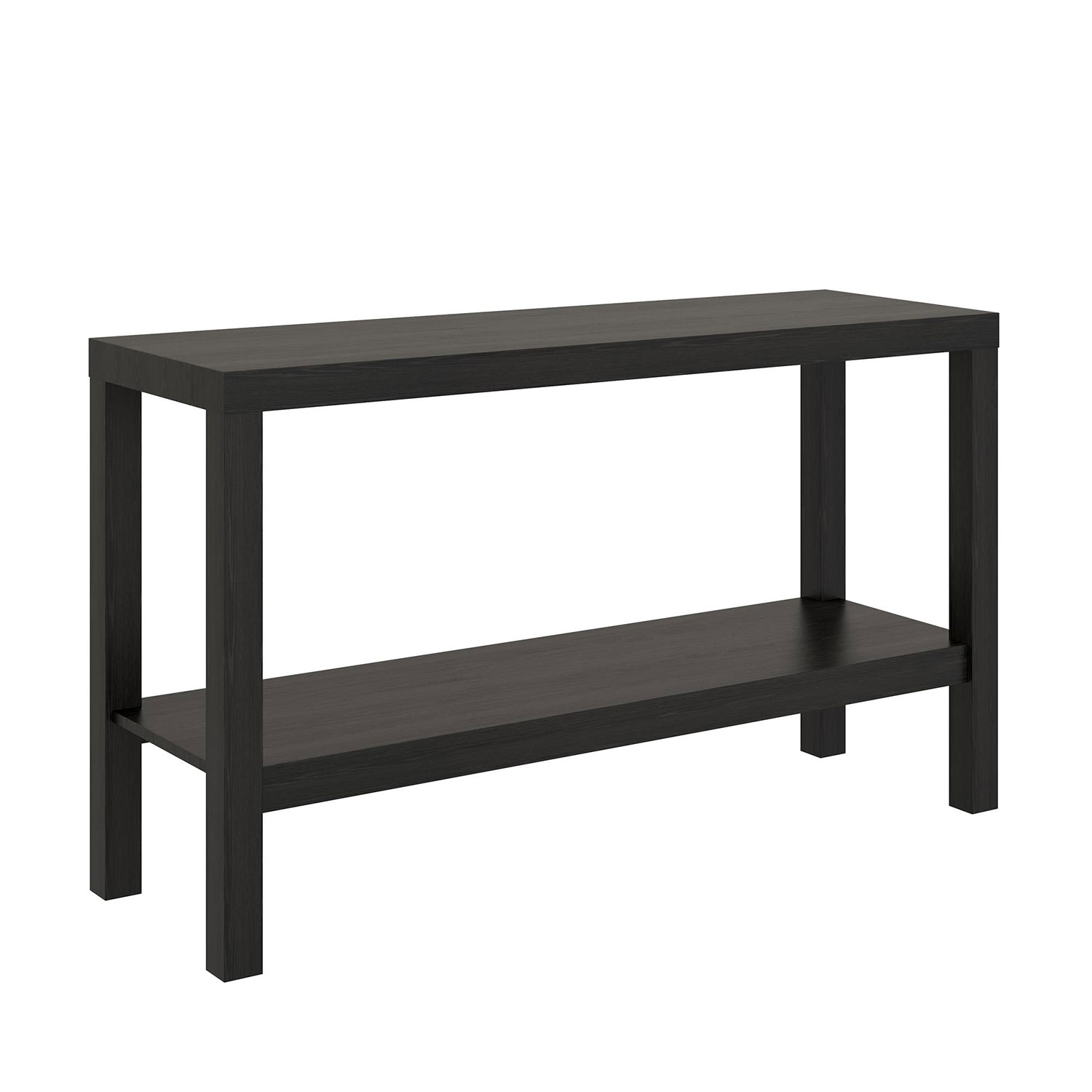 mainstays parsons console table, black oak