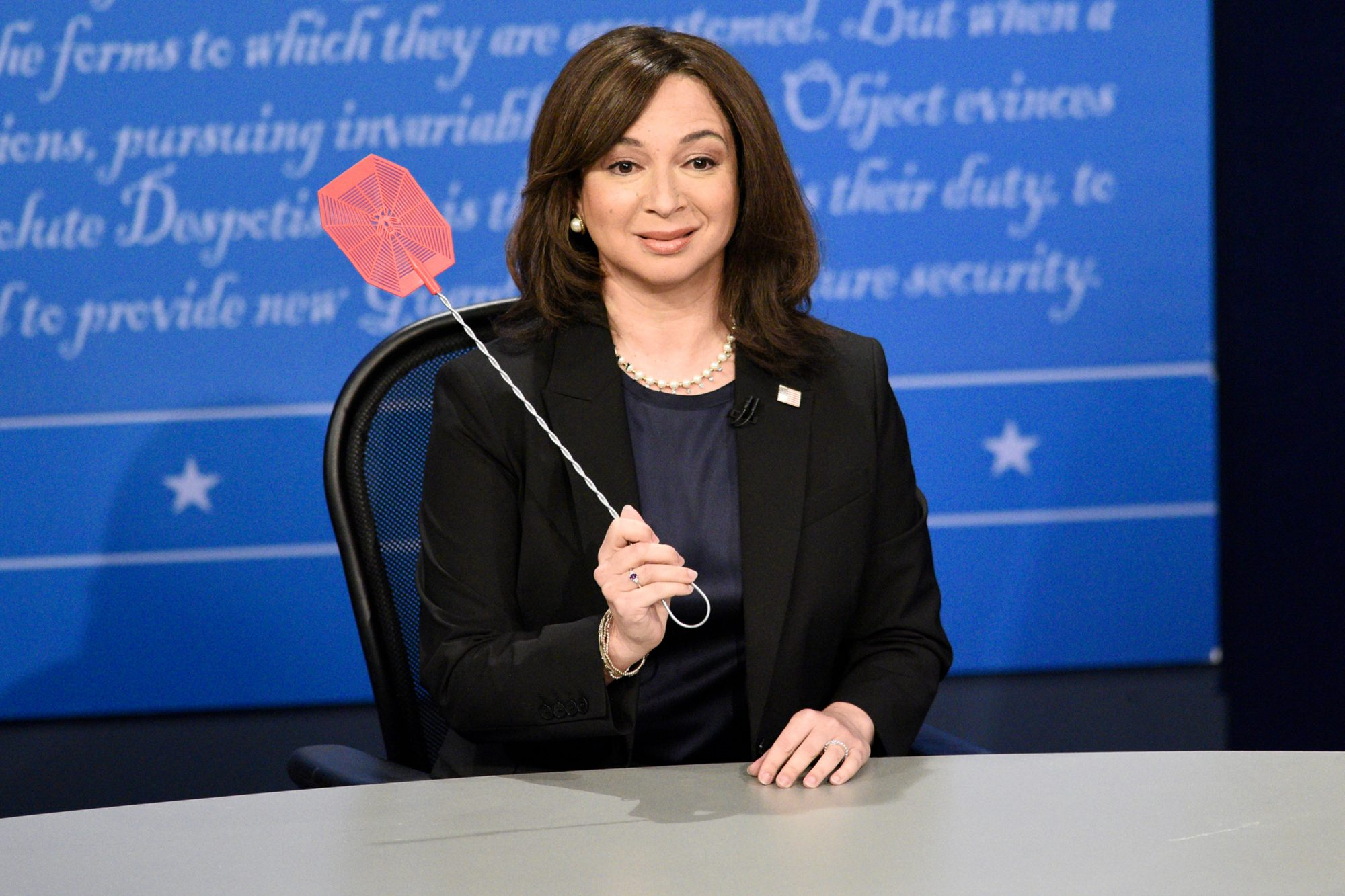 """Maya Rudolph as Kamala Harris during the """"VP Fly Debate"""" Cold Open on Saturday, October 10, 2020"""