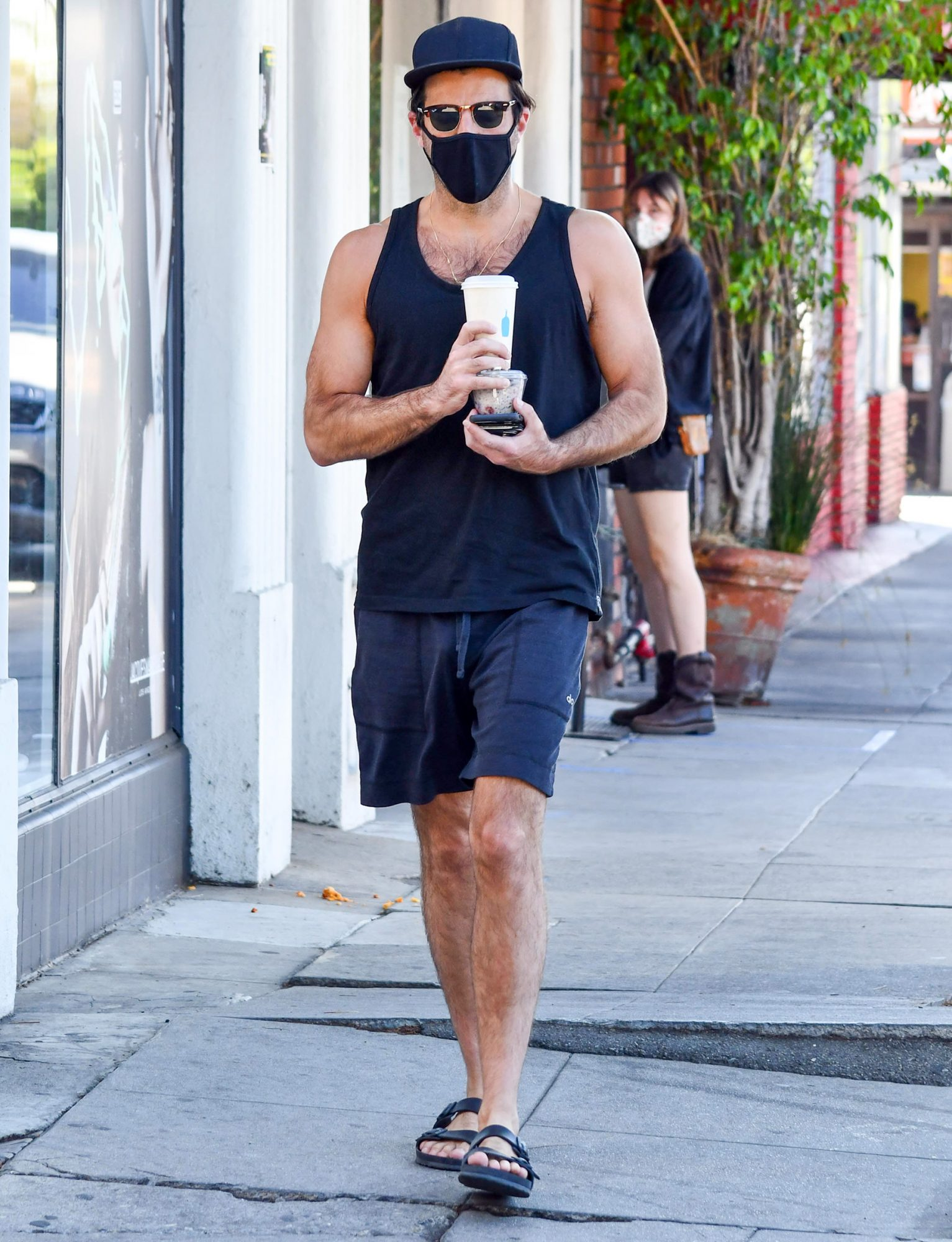 Zachary Quinto is seen on October 12, 2020 in Los Angeles, California