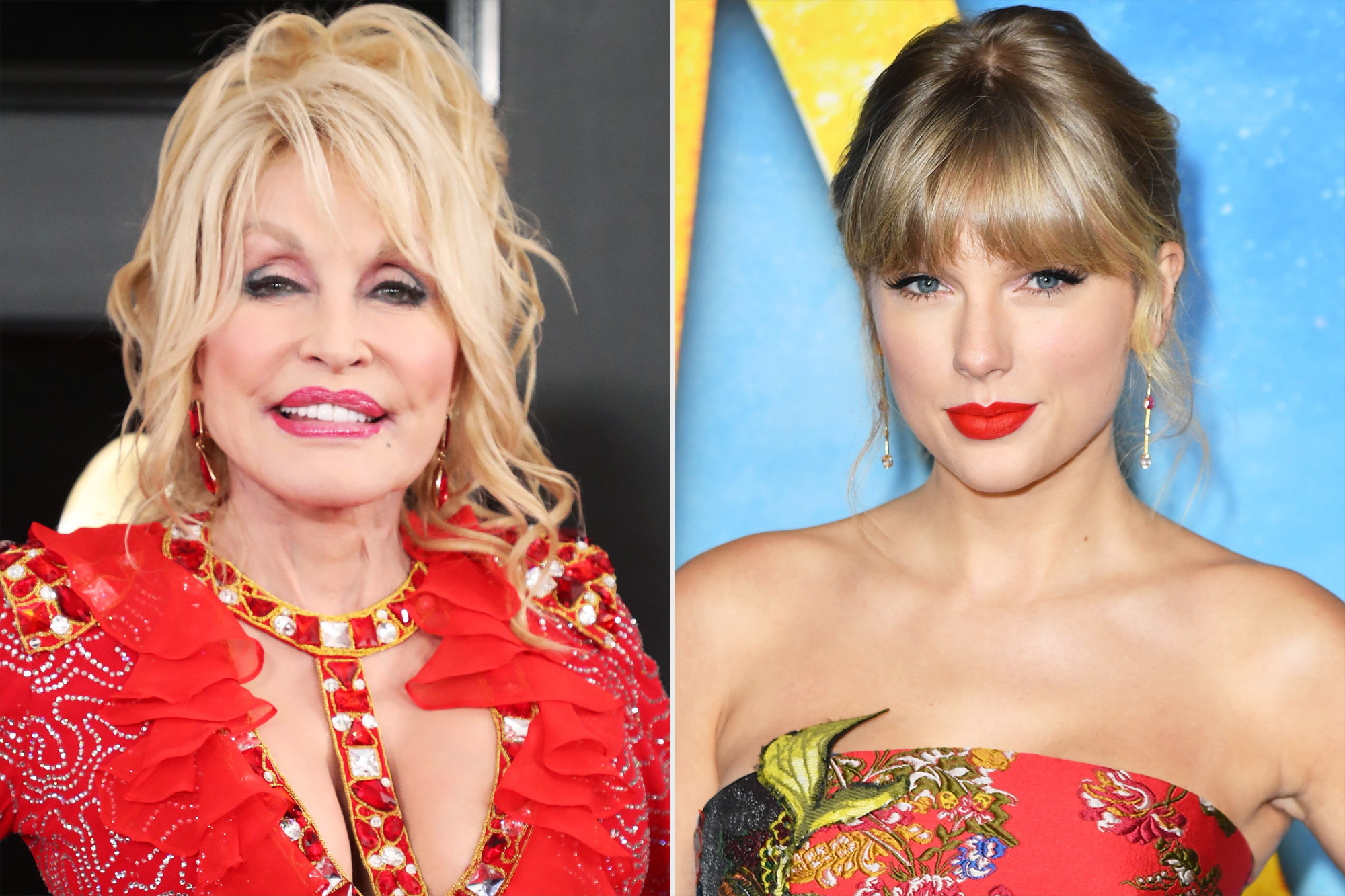 Dolly Parton and Taylor Swift
