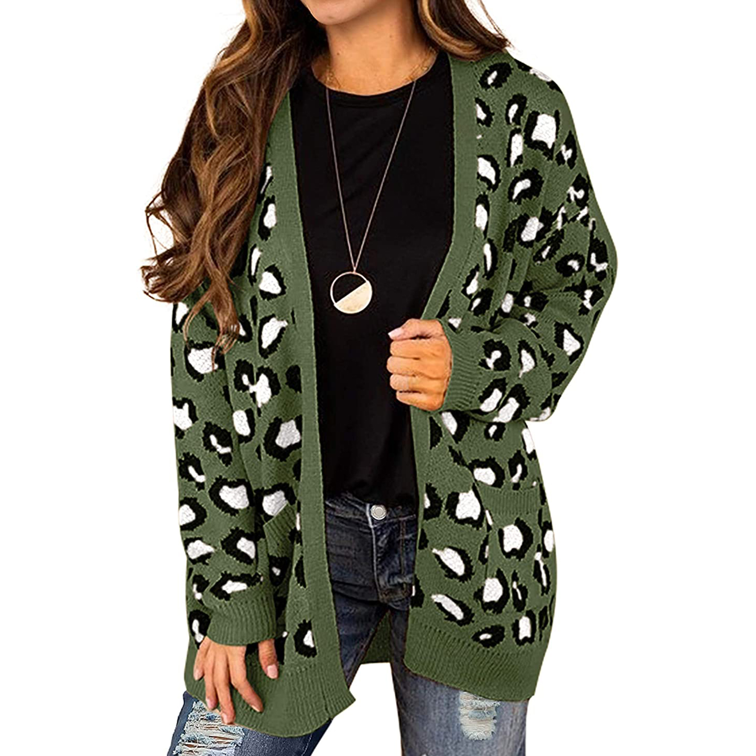Grecerelle Women's Open Front Chunky Cardigan
