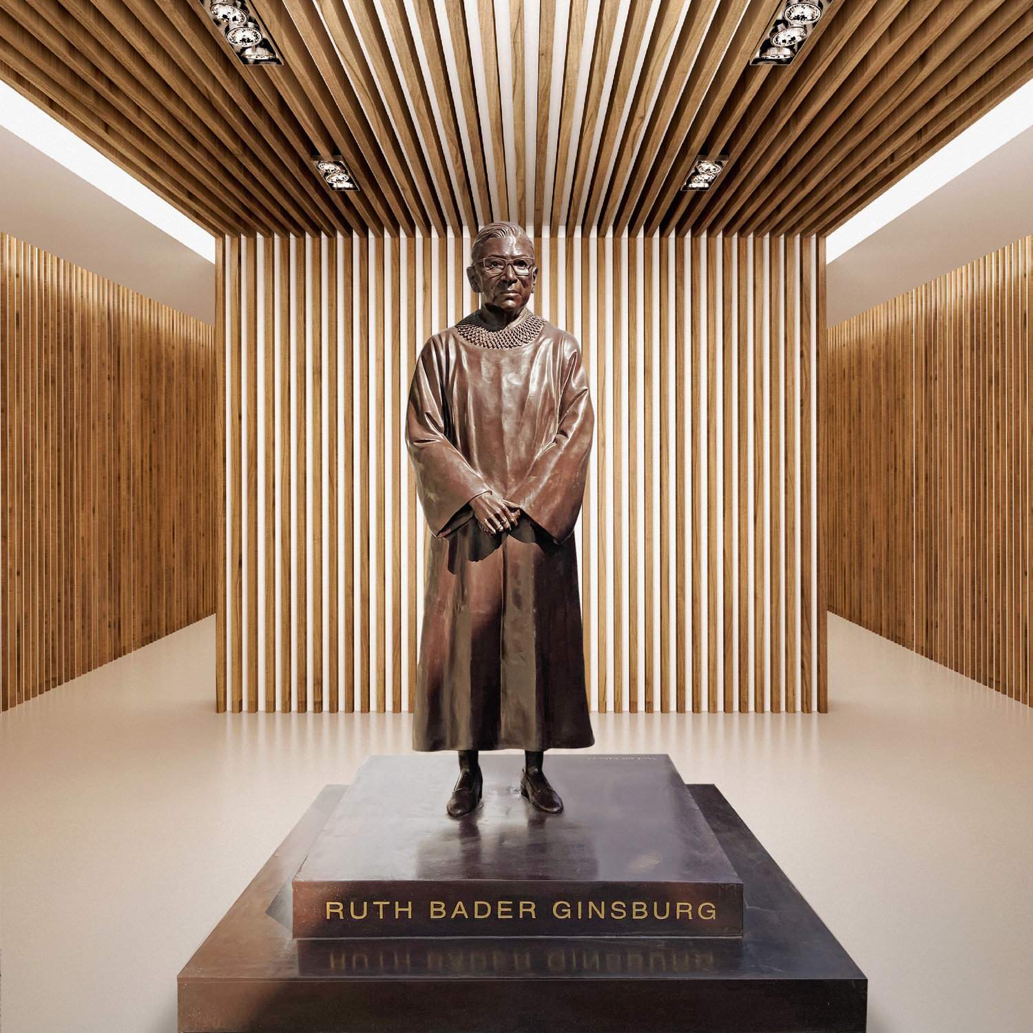 A bronze statue of Ruth Bader Ginsburg will be unveiled in front of City Point