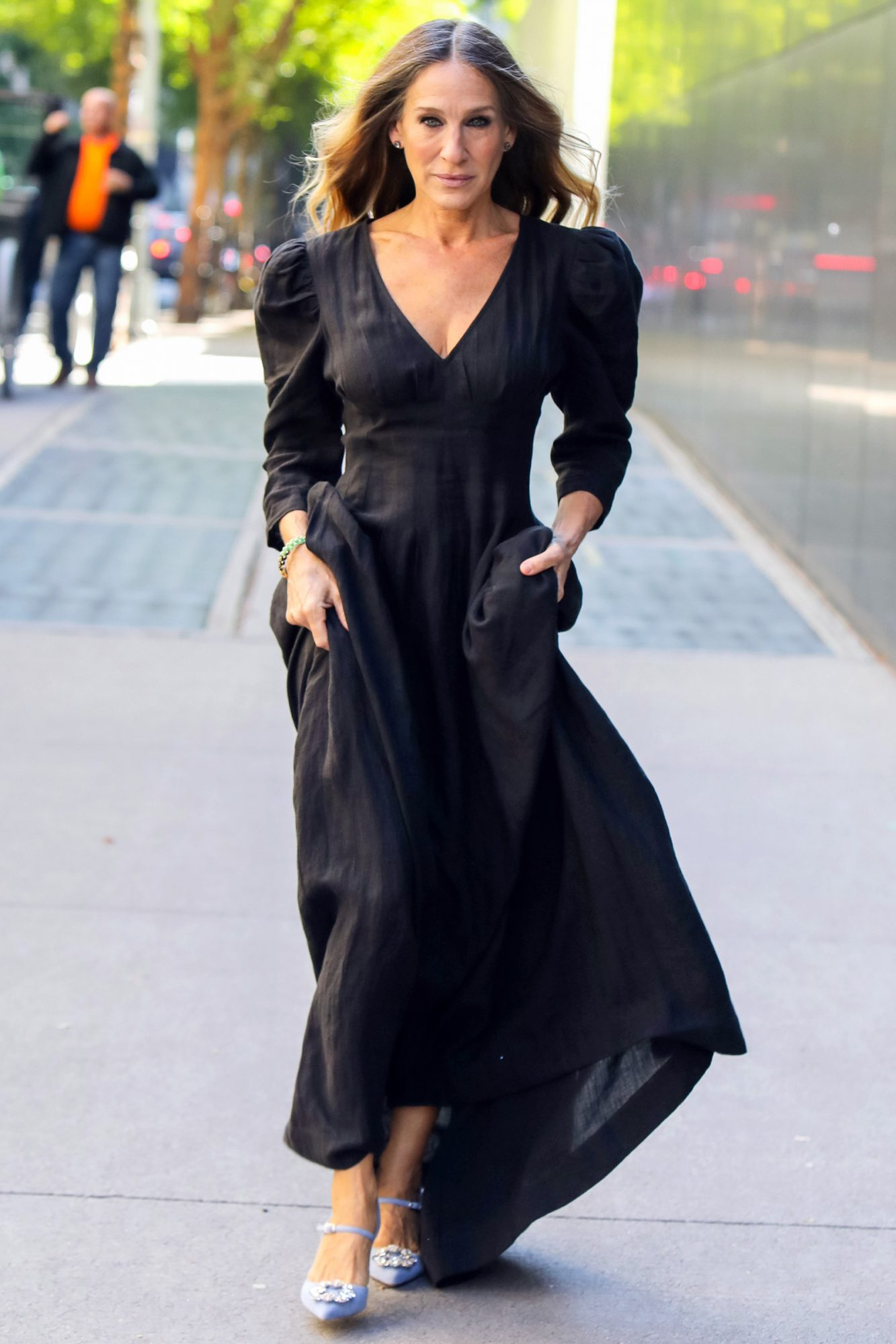 Sarah Jessica Parker is seen on October 15, 2020 in New York City