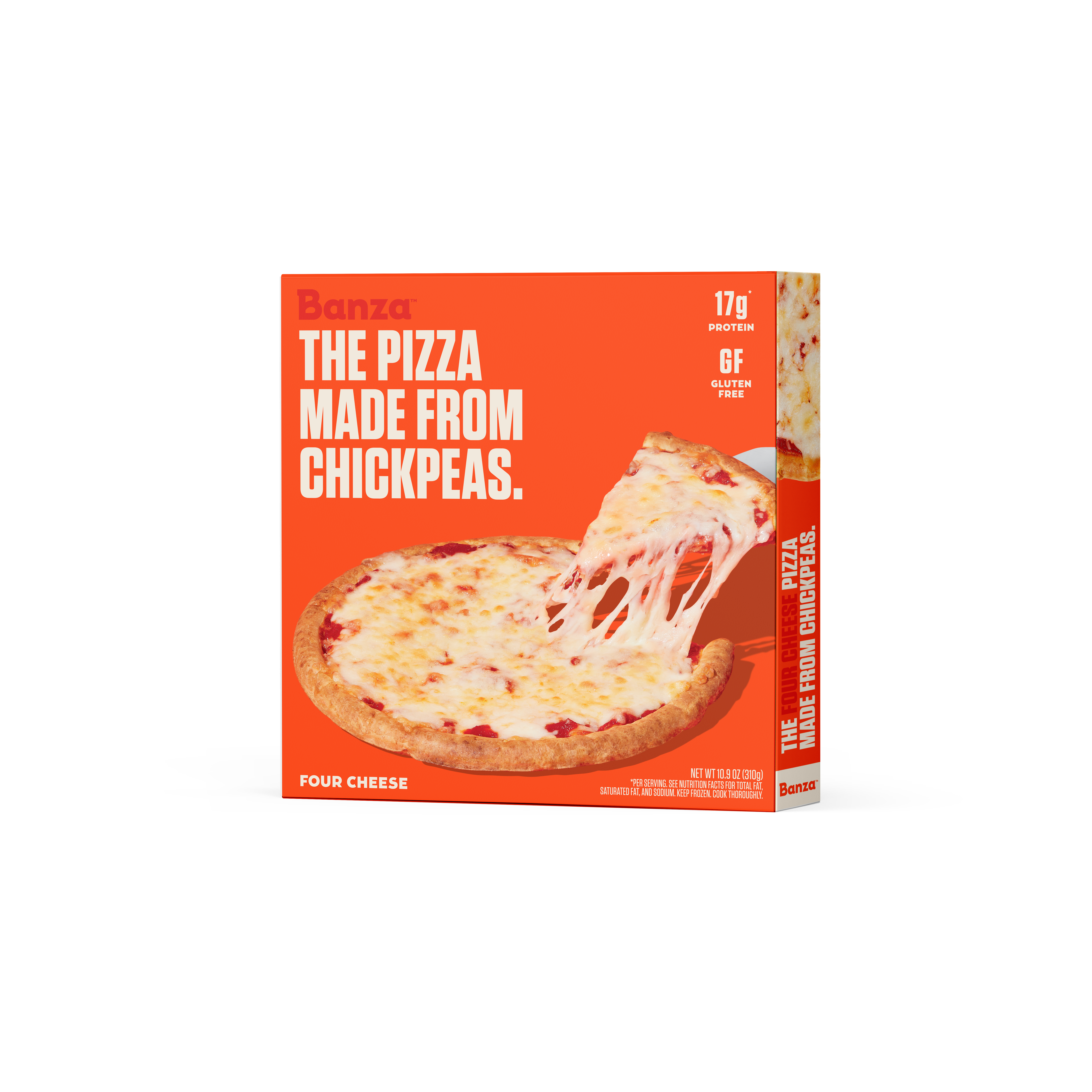 Banza Pizza_Four Cheese Packaging