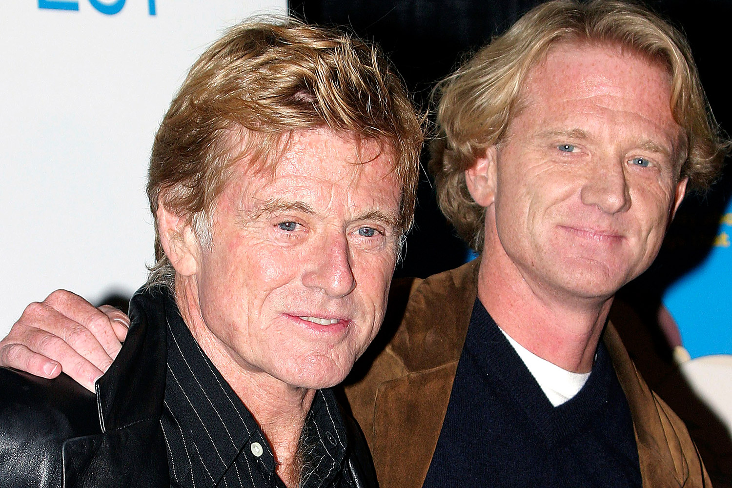 Robert Redford and his son, James