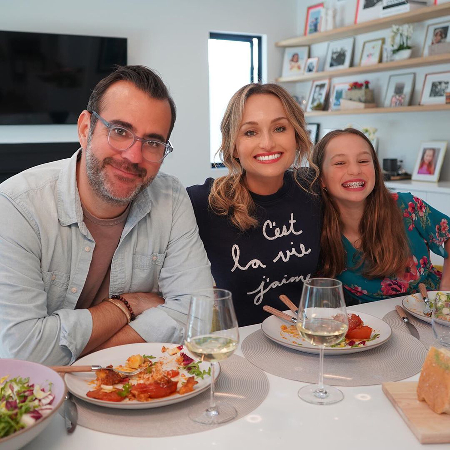 Giada De Laurentiis with boyfriend Shane Farley and daughter Jade