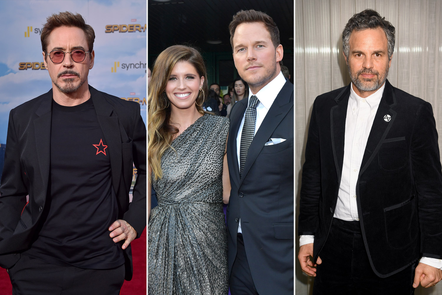 Katherine Schwarzenegger, Robert Downey Jr and Mark Ruffalo, Chris Pratt