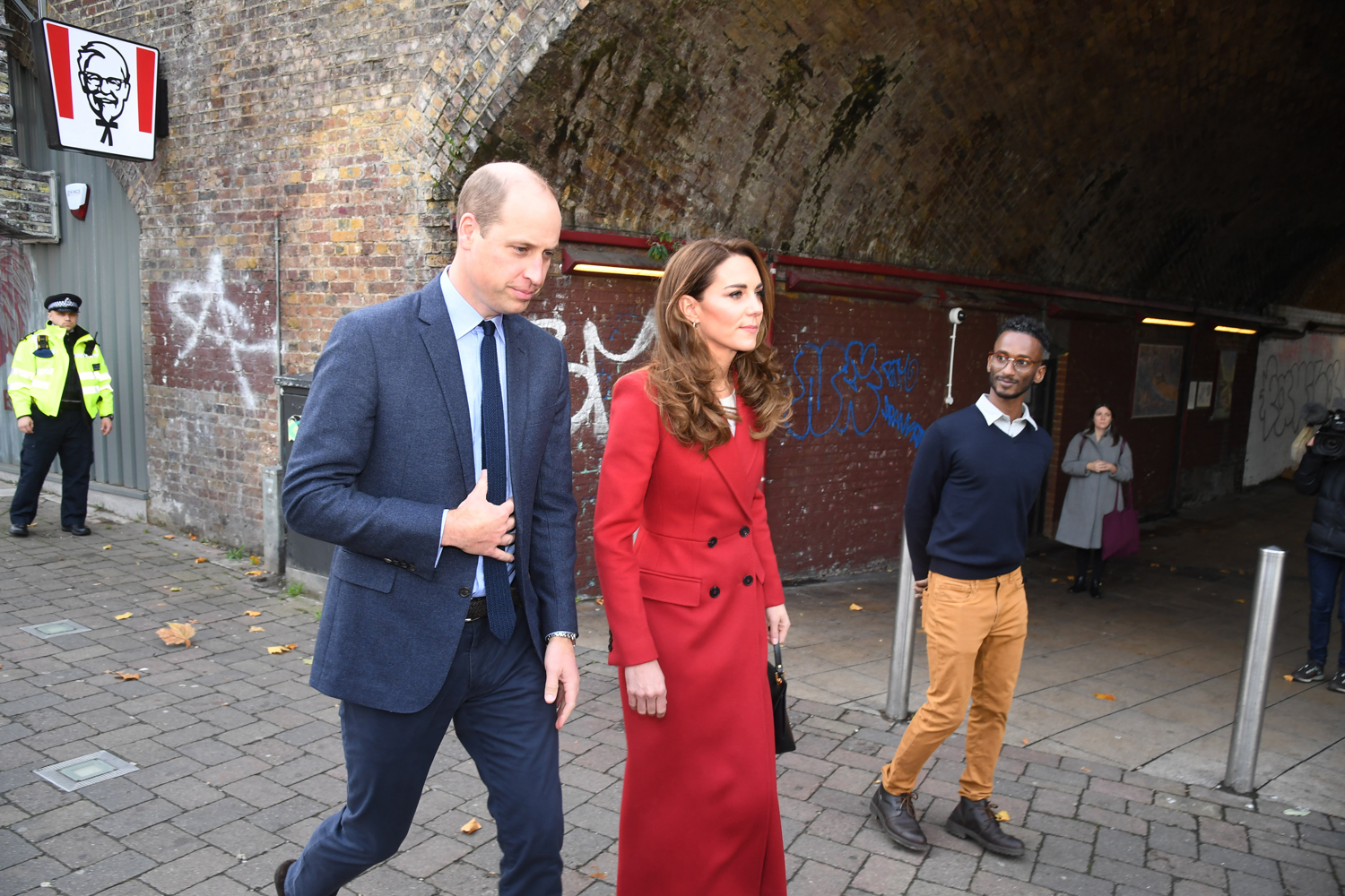 The Duke and Duchess of Cambridge during a visit to view some of the images from the Hold Still photography project