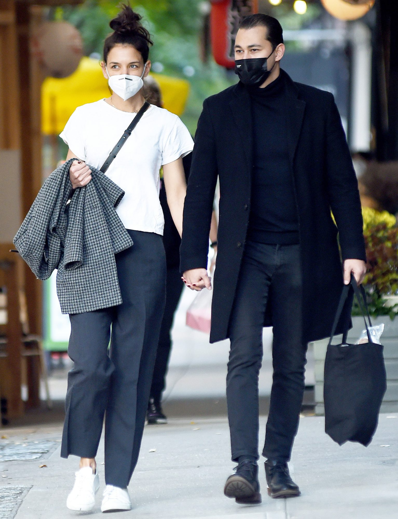 Katie Holmes and Emilio Vitolo Jr. out and about, New York, USA - 19 Oct 2020