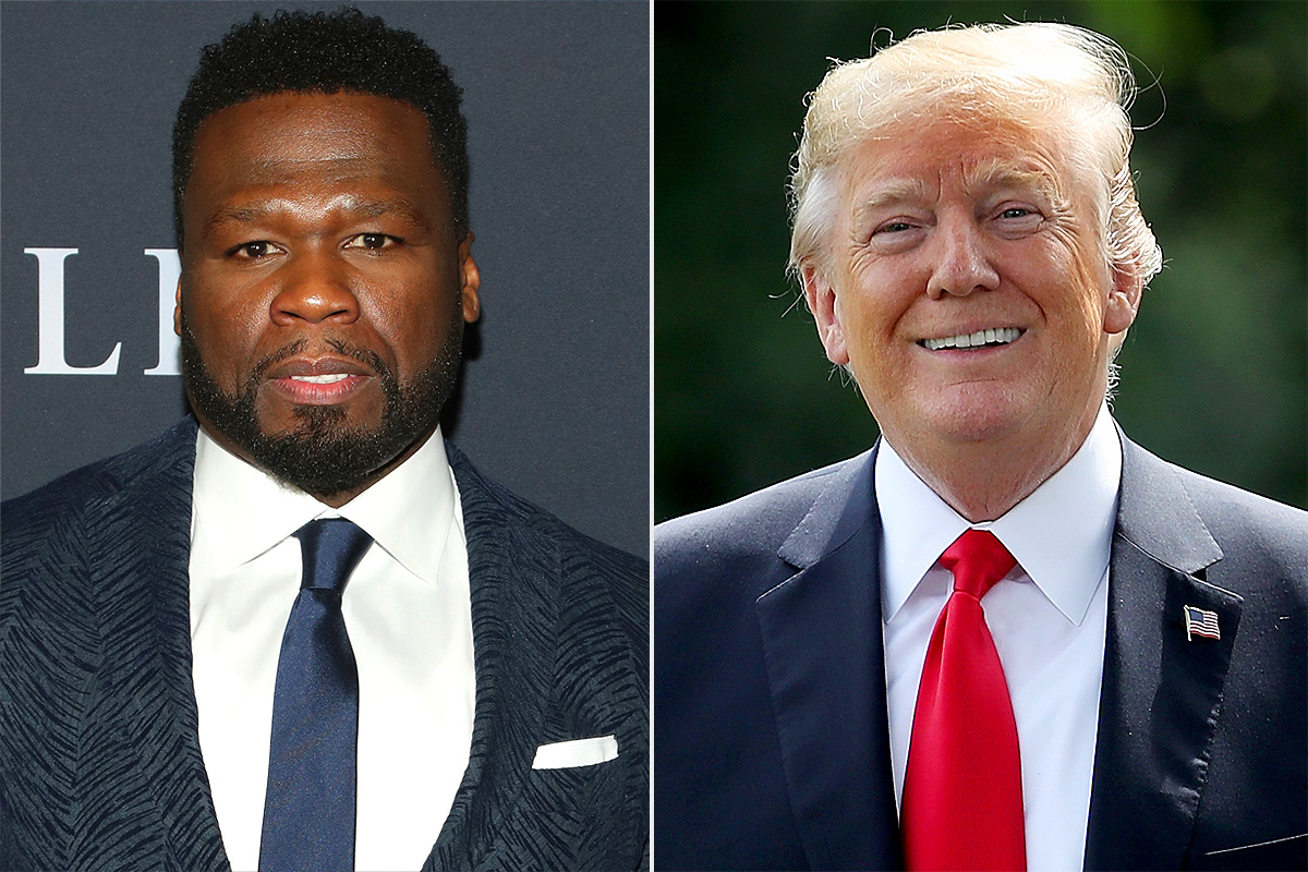 50 cent, donald trump