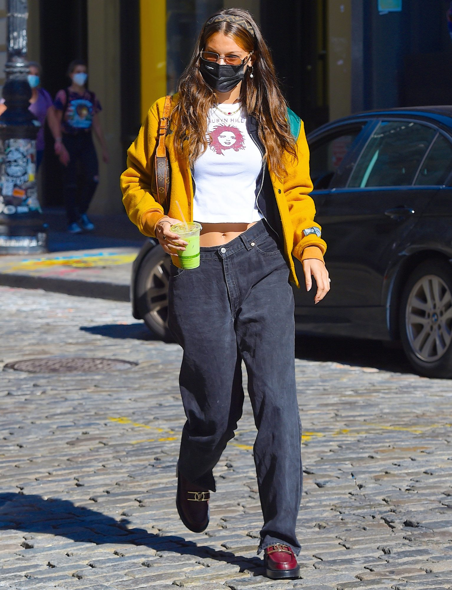Bella Hadid seen out and about in Manhattan on October 20, 2020 in New York City