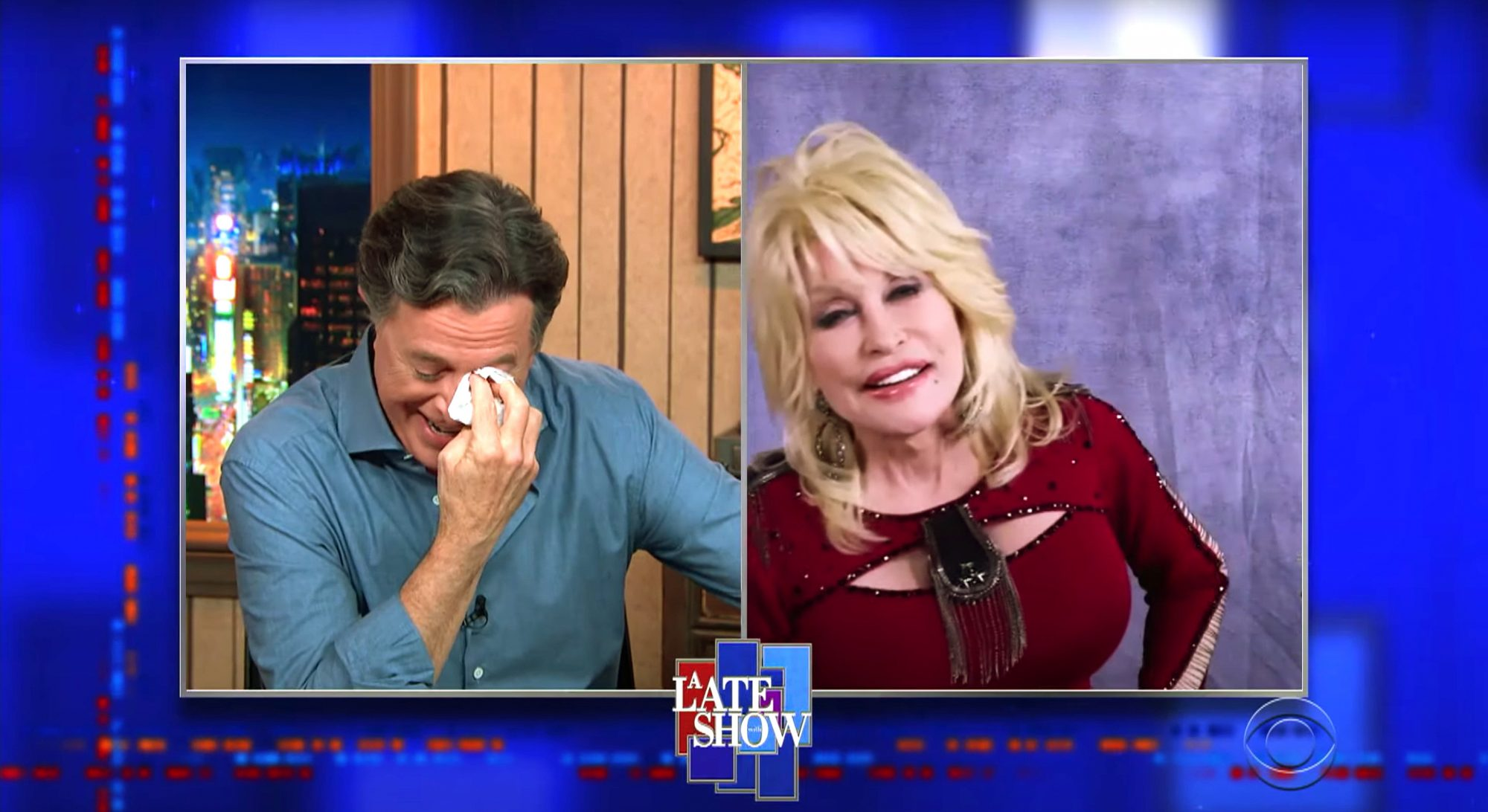 Dolly Parton, Stephen Colbert