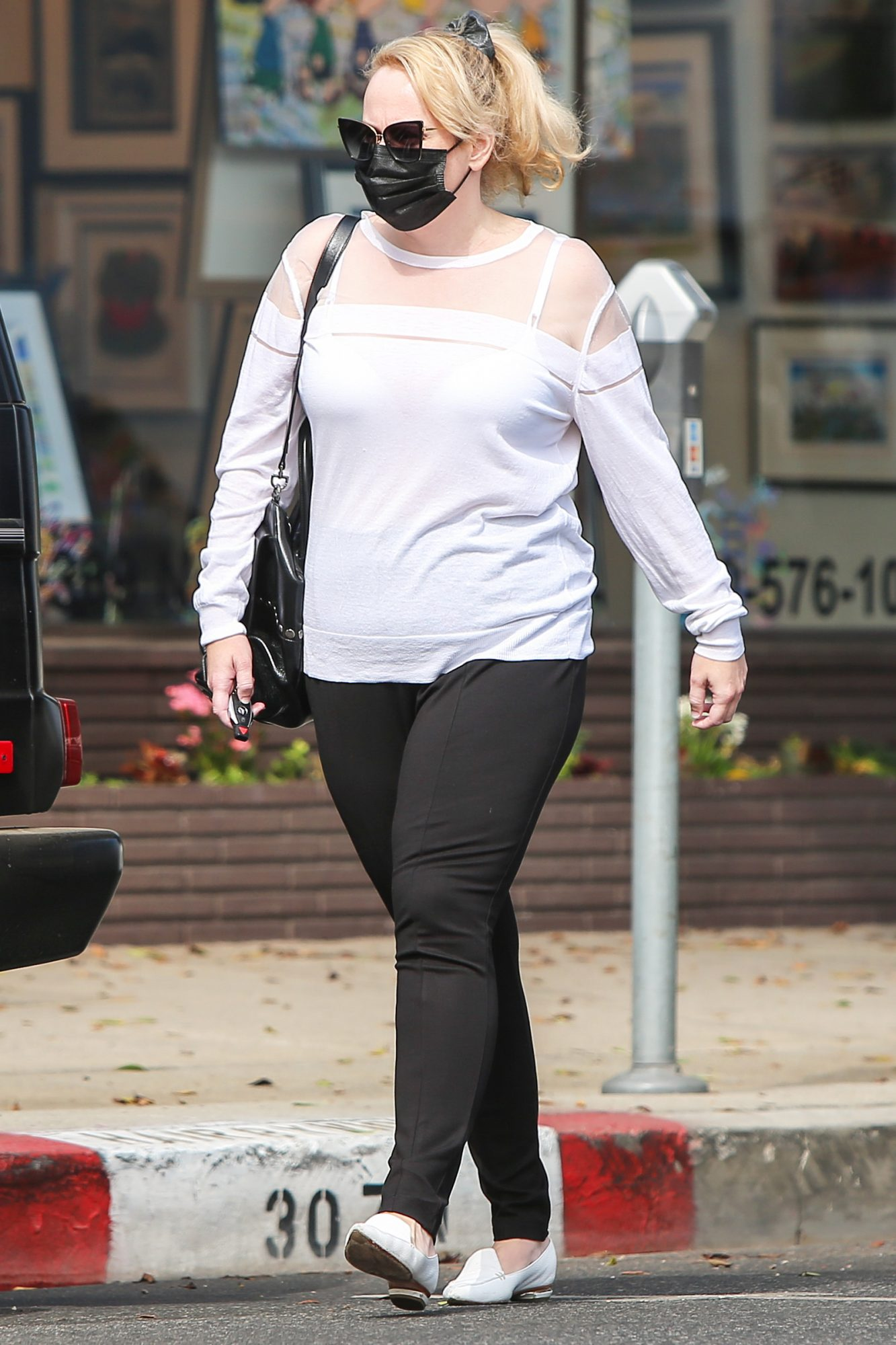Rebel Wilson Does Some Window Shopping in Los Angeles.