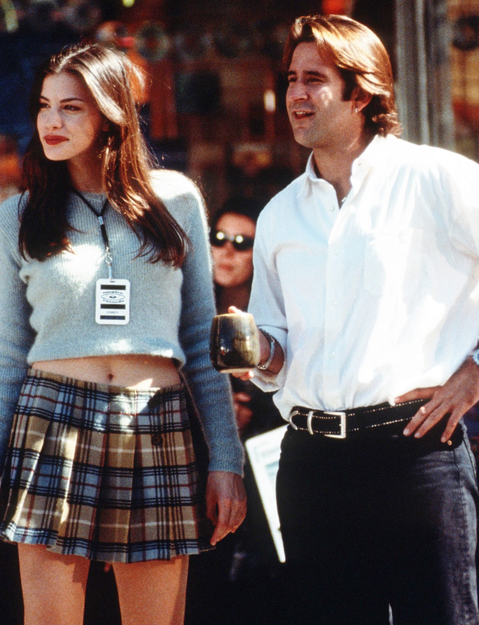 Liv Tyler's Cropped Sweater in Empire Records