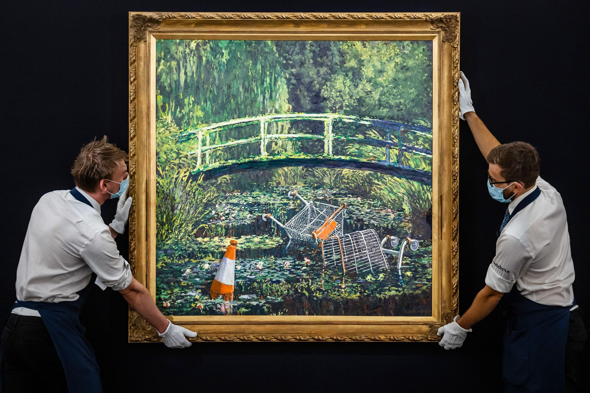 Show Me the Monet by Banksy at Sothebys London