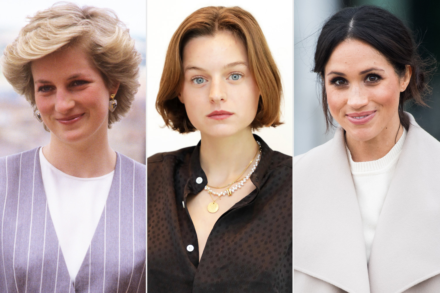 Emma Corrin,The Crown's Princess Diana, Thinks History Is Repeating Itself with Meghan Markle