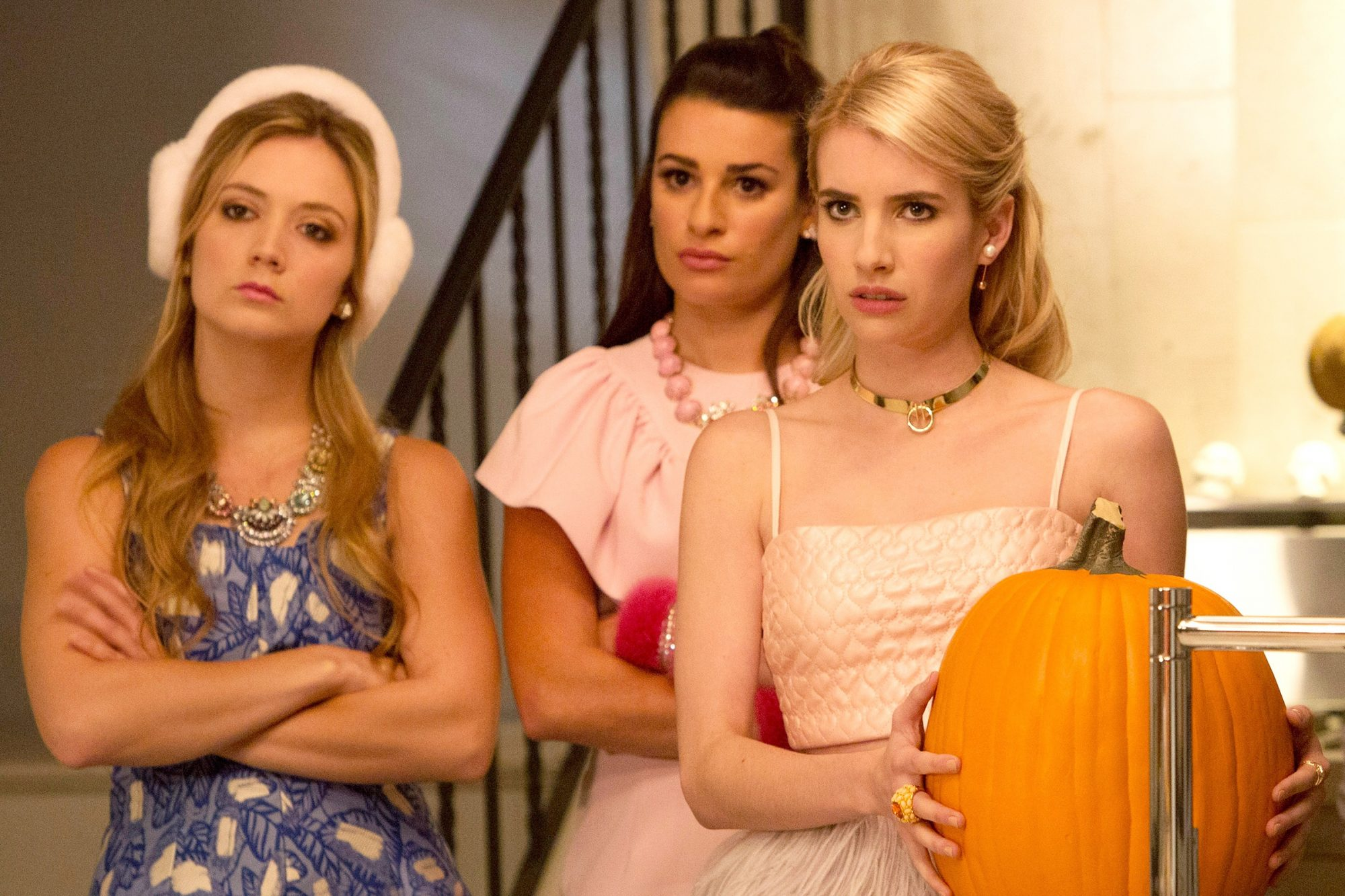 Scream Queens Billie Lourd Lea Michele Emma Roberts