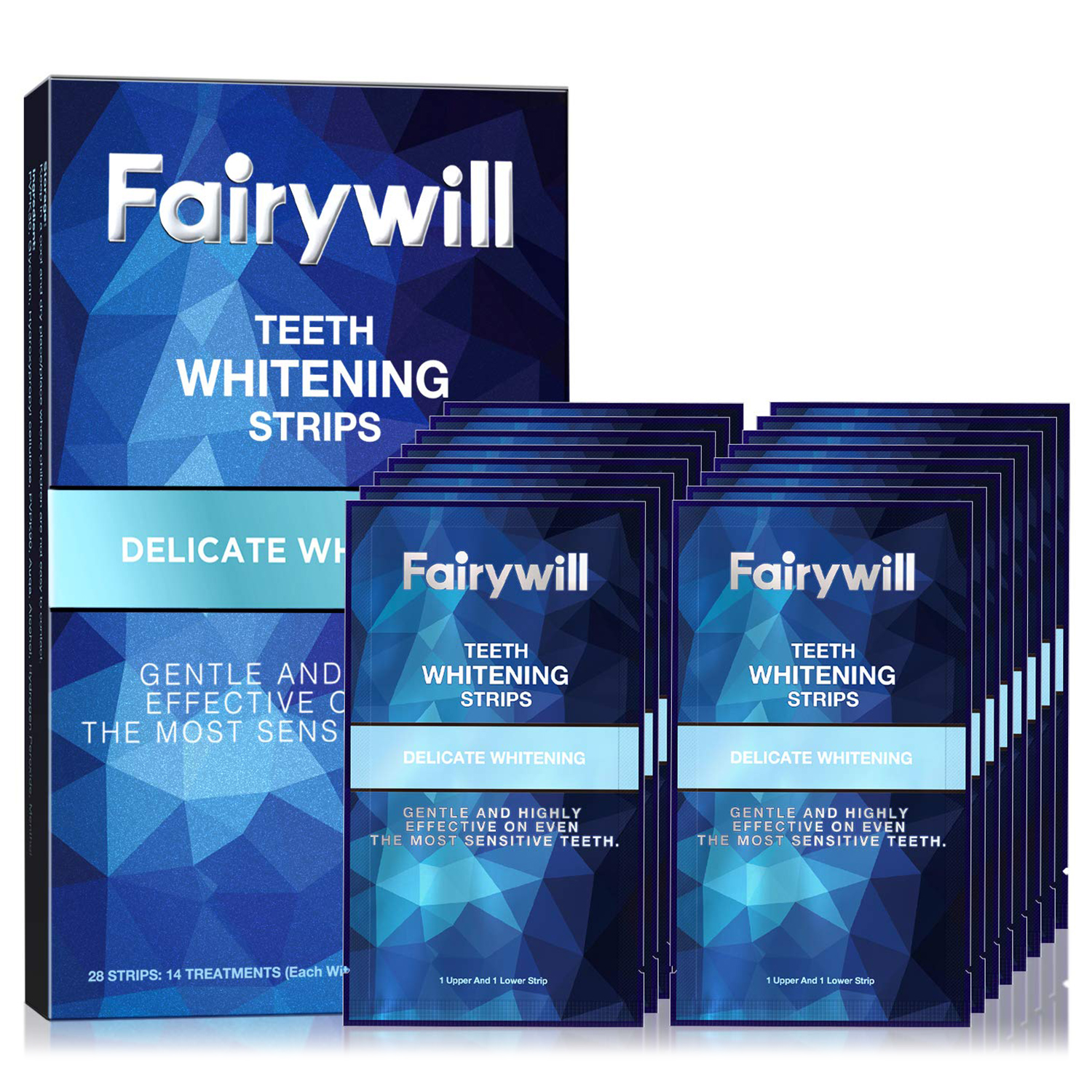 Fairywill Reduced Sensitivity Teeth Whitening Strips Kit