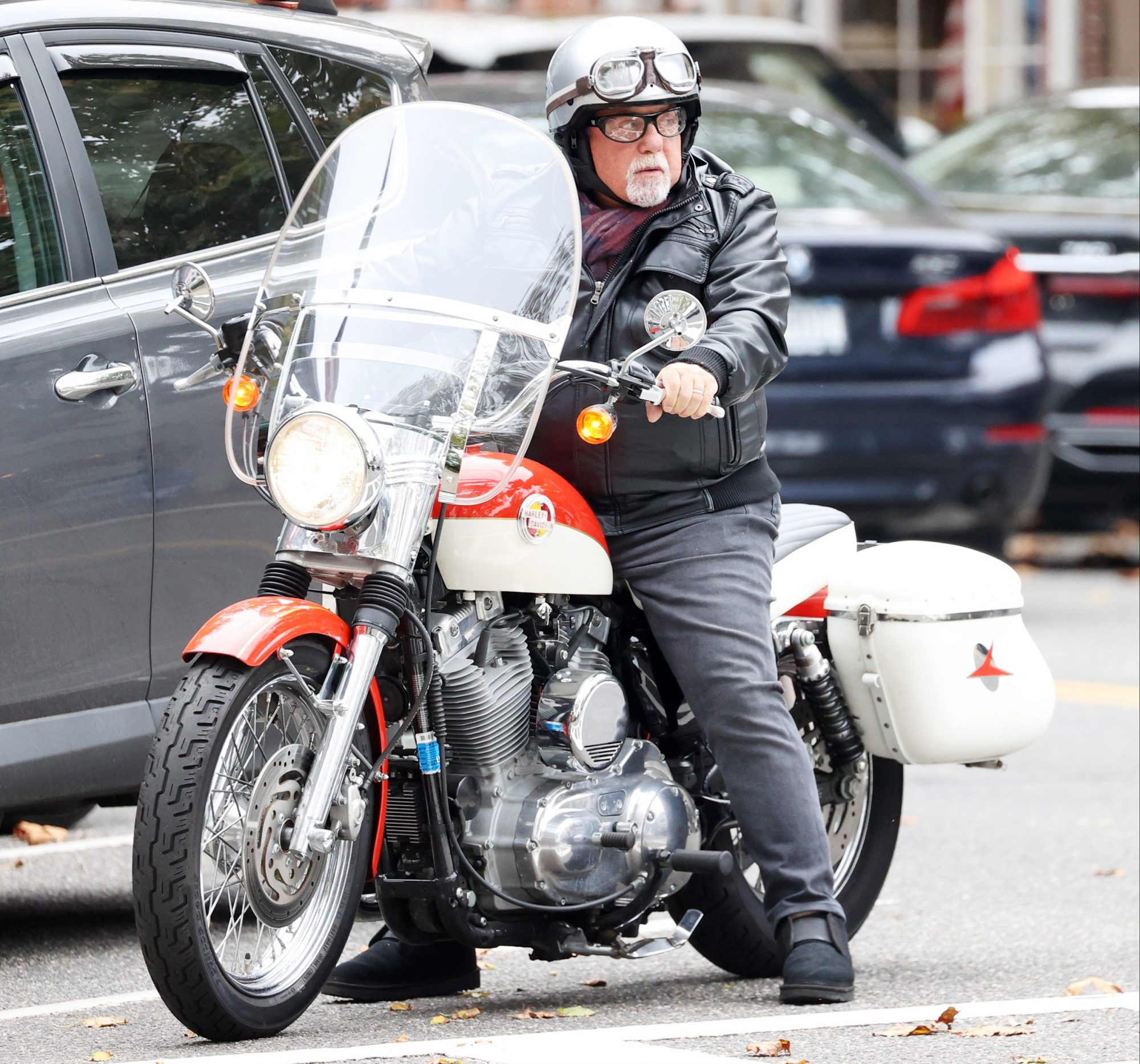 Billy Joel Spotted Out And About Riding His Vintage Harley Davidson Motorcycle In The Hampton's