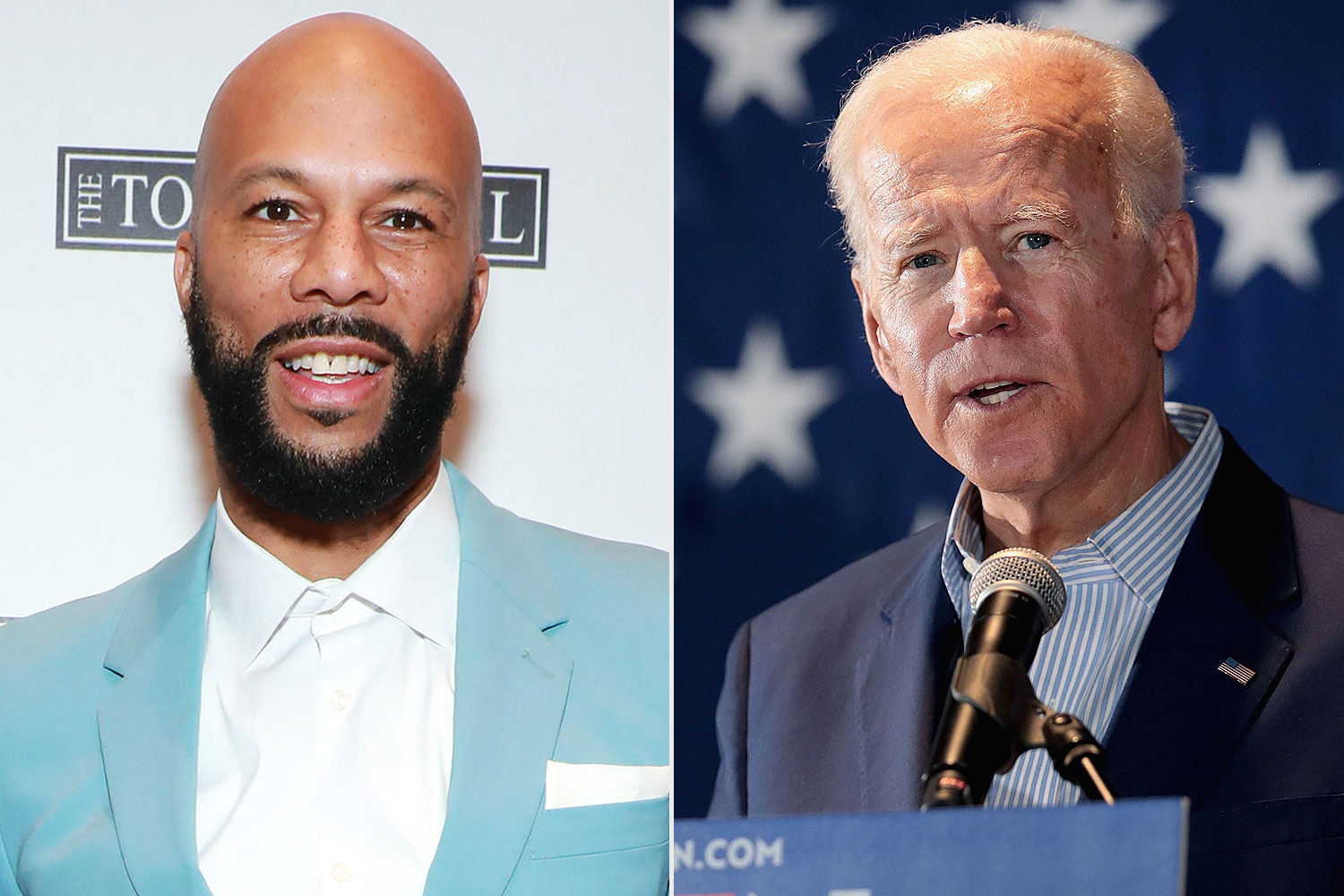 Common (left) and Joe Biden