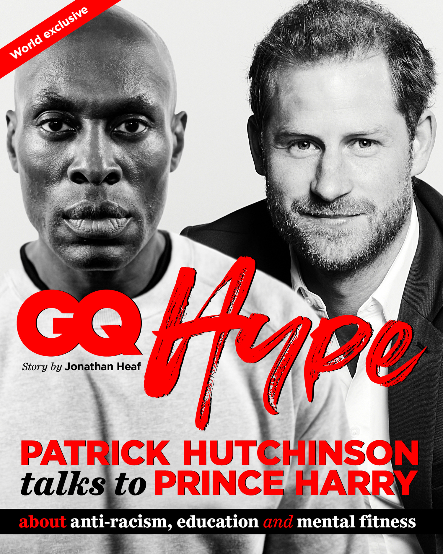 Prince Harry appears on the front cover of British GQ