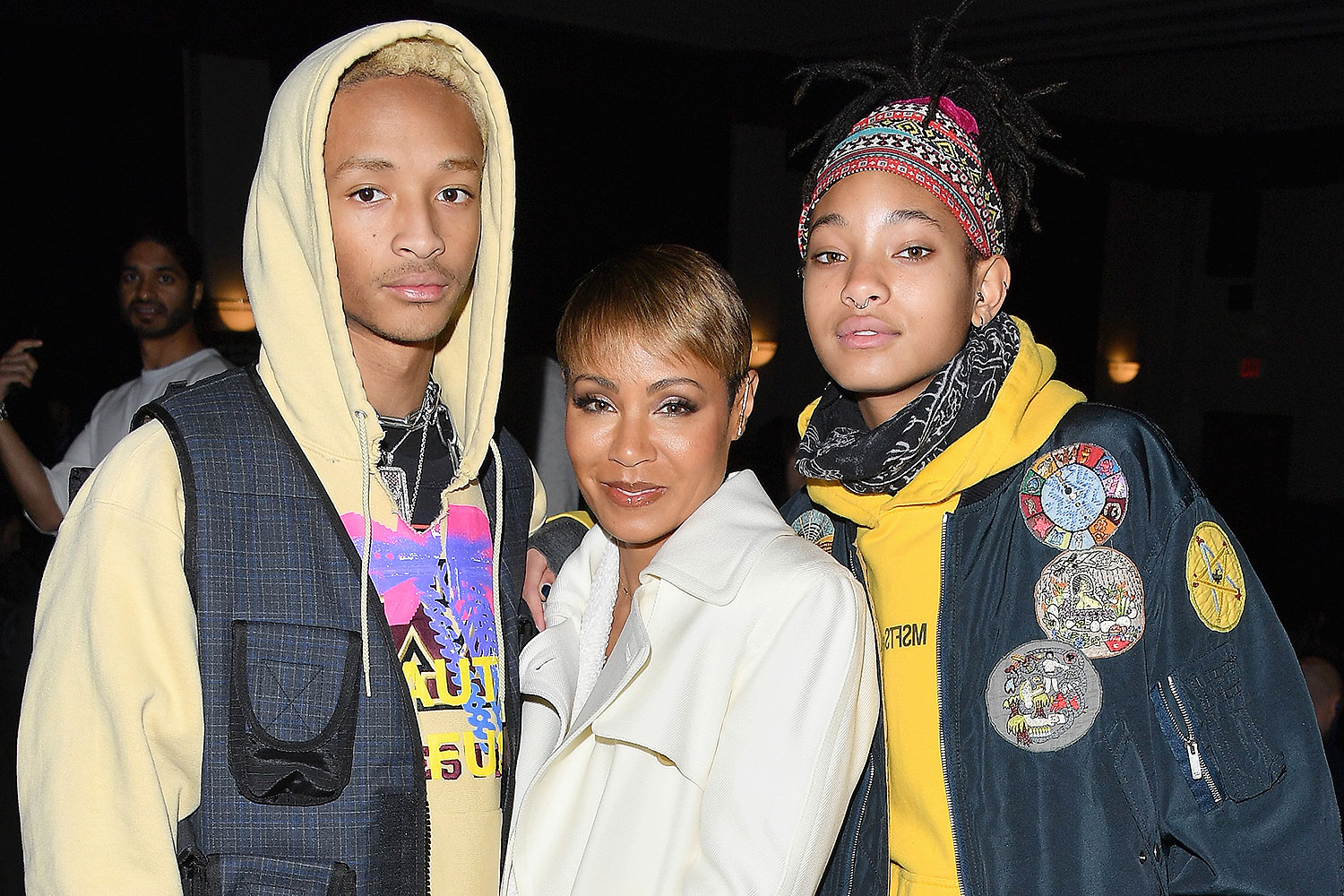 Jaden Smith, Jada Pinkett Smith and Willow Smith