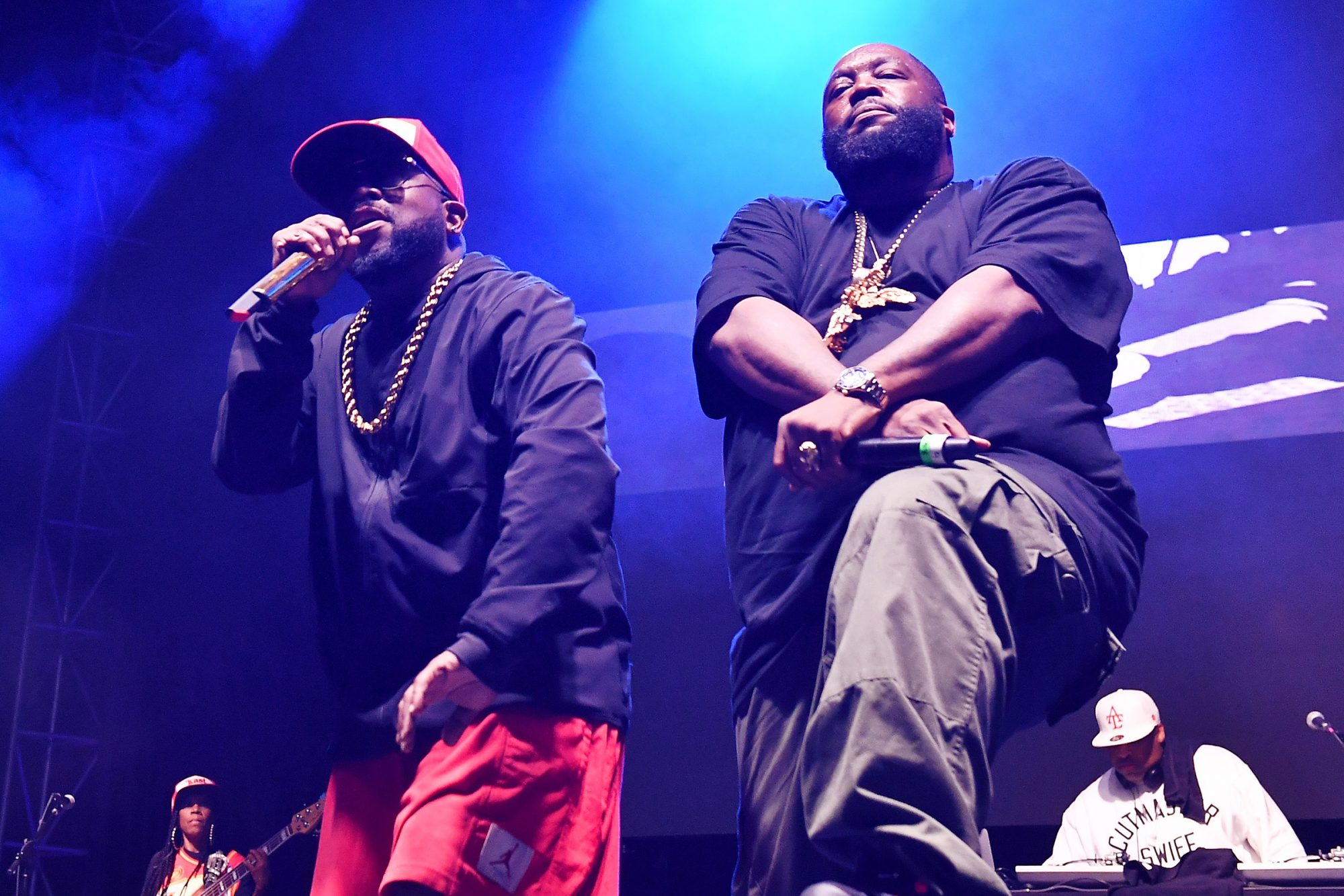 Big Boi and Killer Mike perform onstage during night 3 of Big Night Out ATL at Centennial Olympic Park on October 25, 2020 in Atlanta