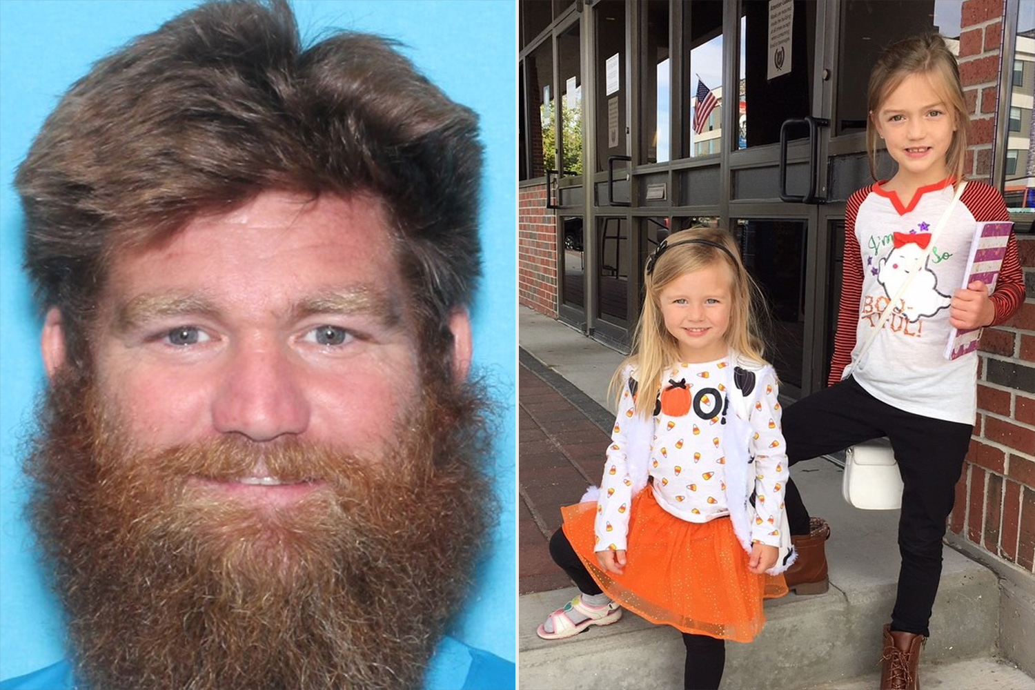 Donny Jackson, 40, and his daughters Nora Jackson, age 7, and Aven Jackson, age 3