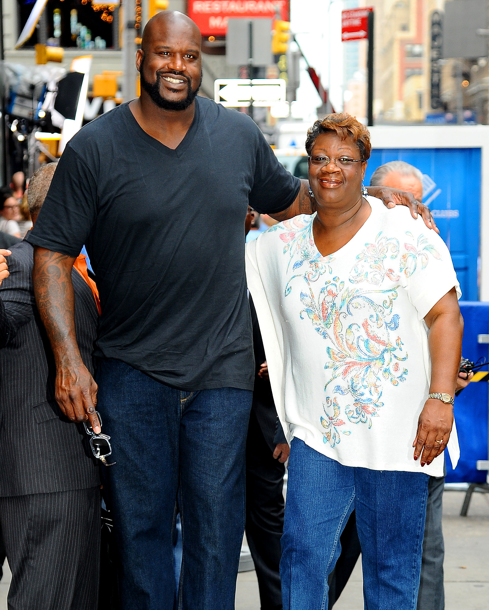Shaquille O'Neal and his mother Lucille O'Neal