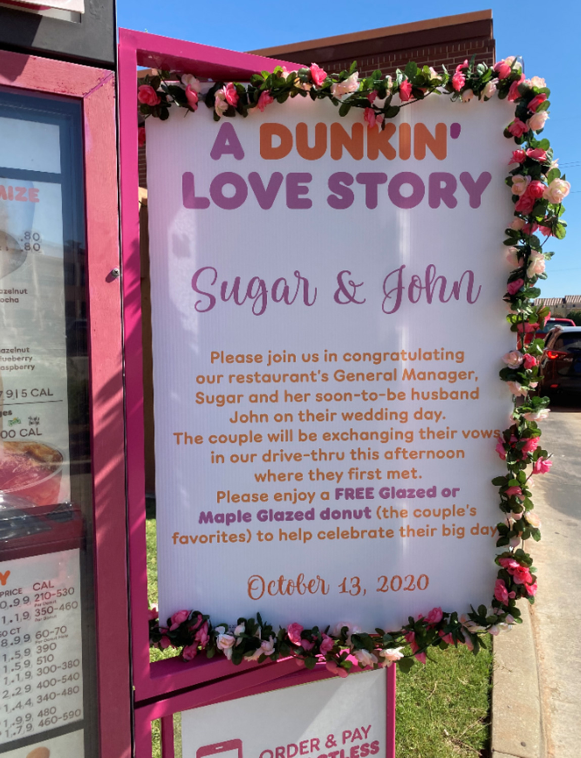 Dunkin Donuts Drive-Thru Wedding