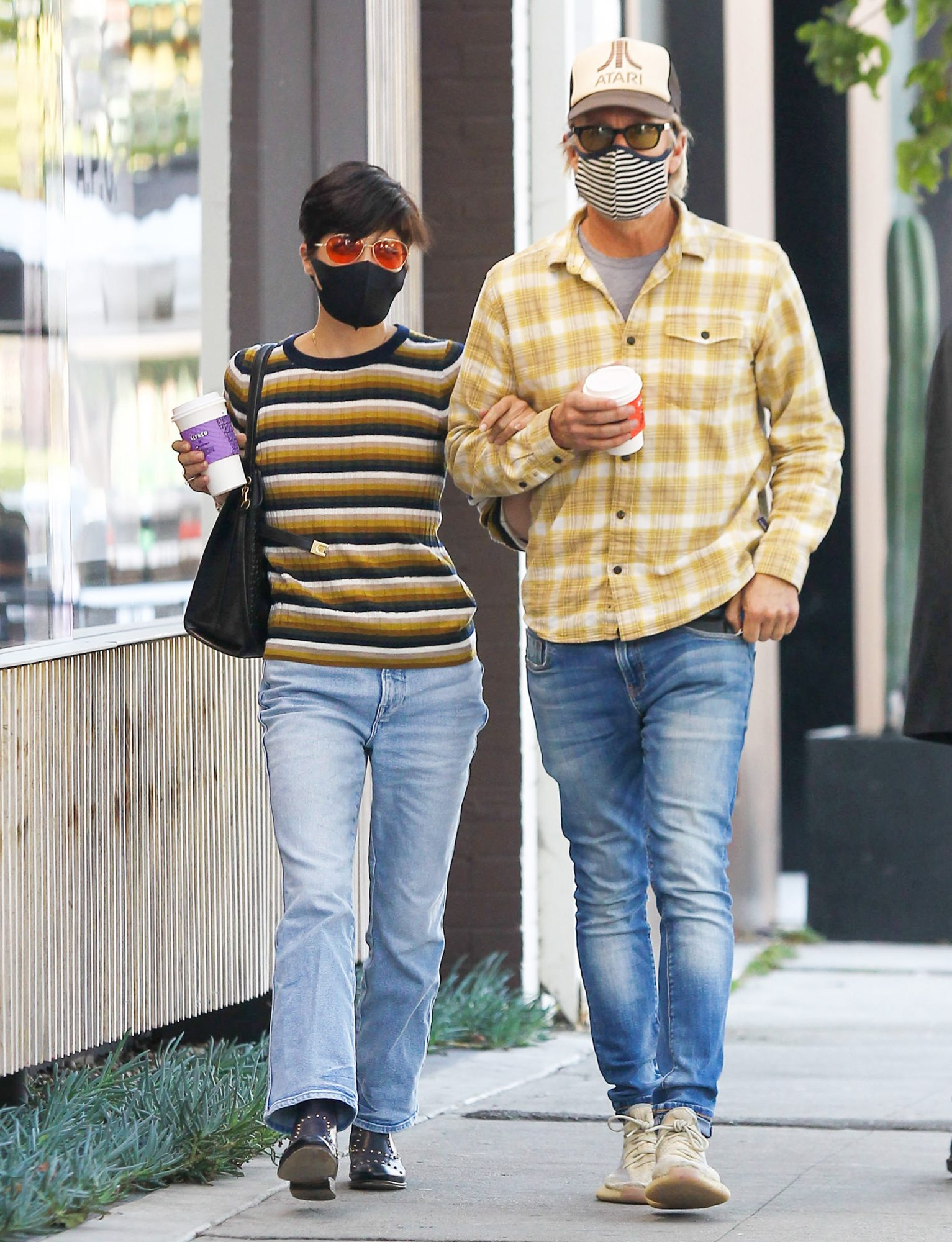 Selma Blair and Ron Carlson are seen on October 27, 2020 in Los Angeles, California