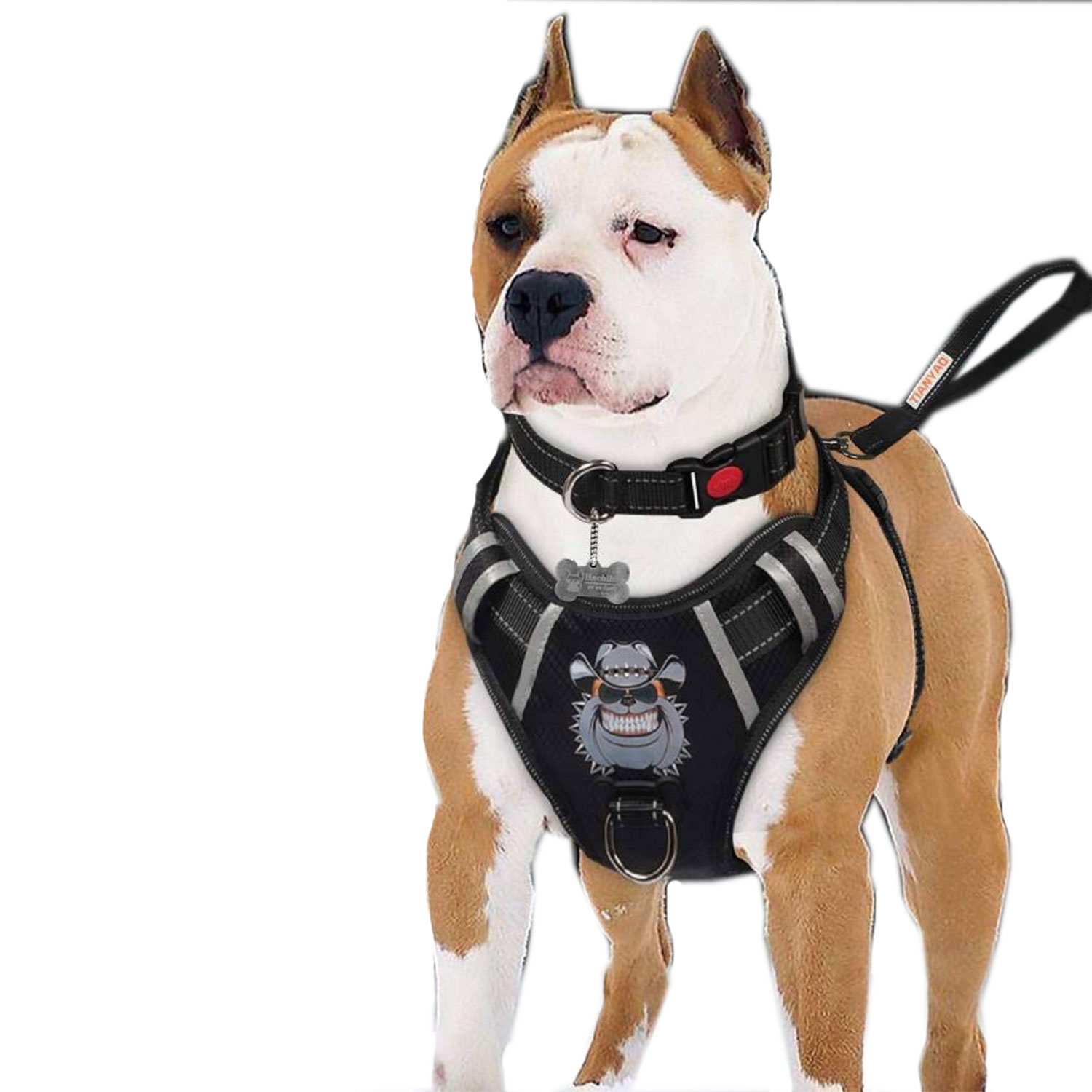 dog harness no-pull dog vest reflective oxford material pet harness