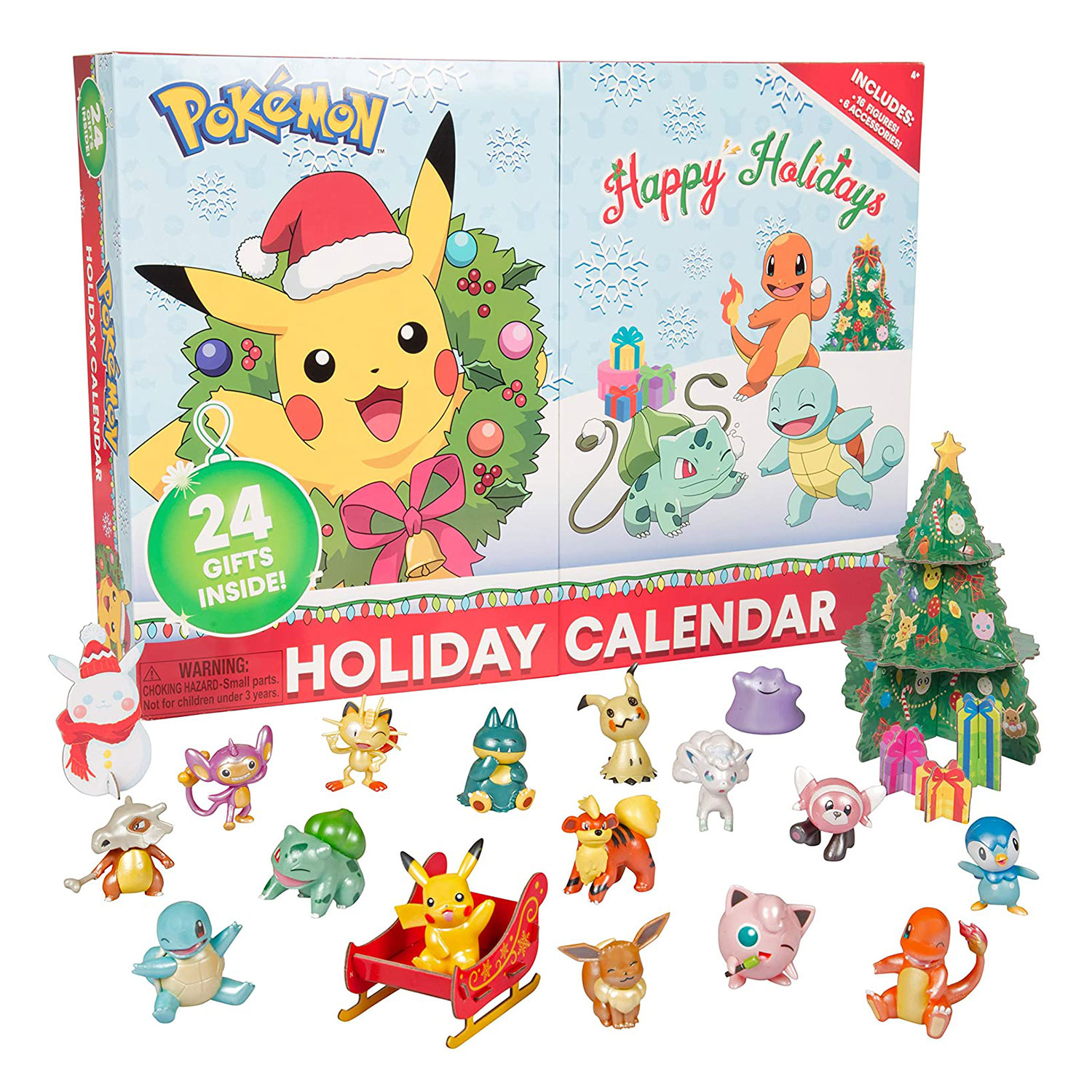 pokemon holiday advent calendar kids 24 pieces