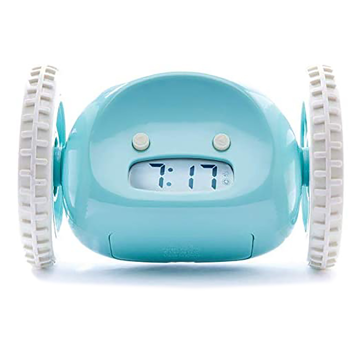 clocky alarm clock wheels