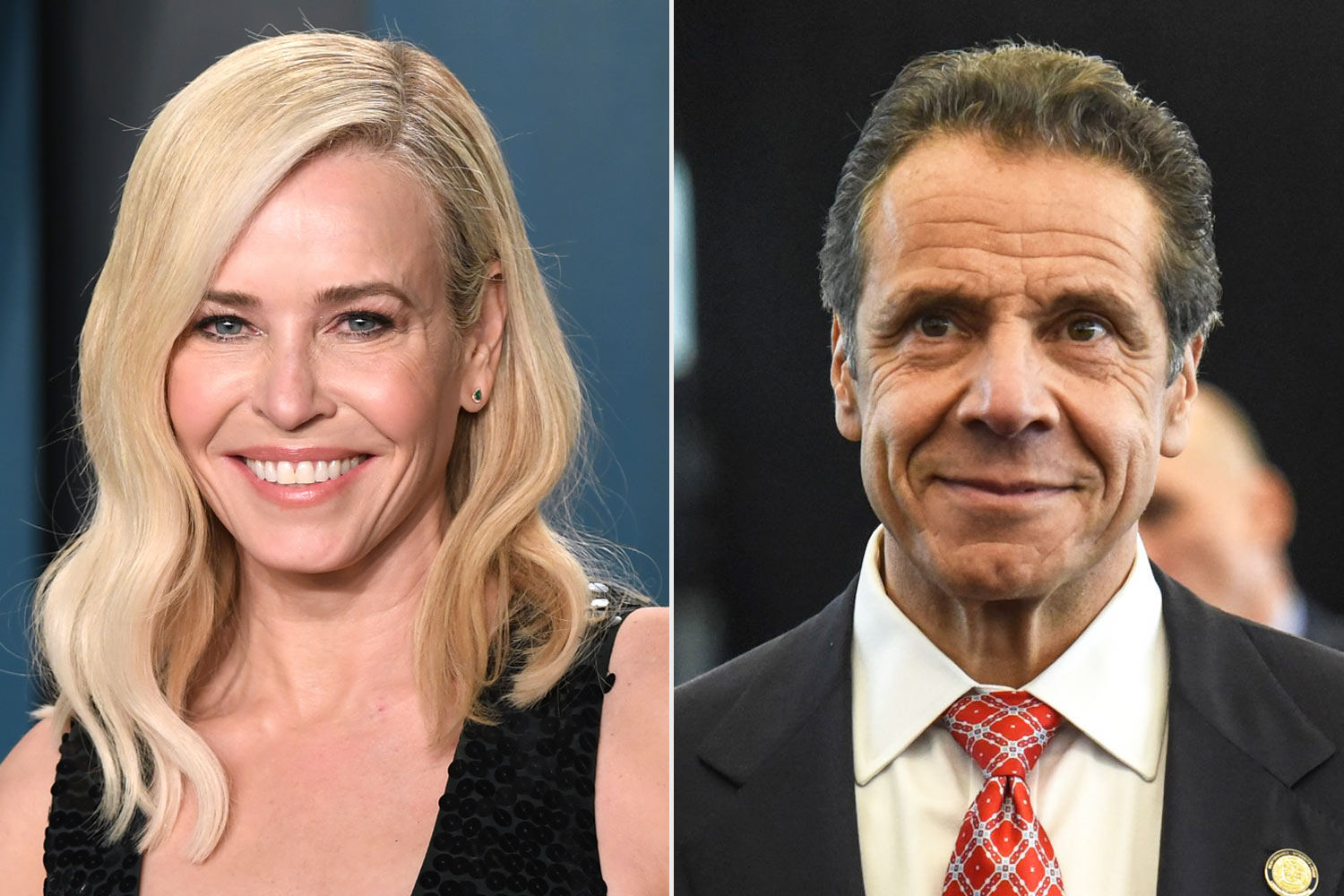 Chelsea handler and Andrew Cuomo