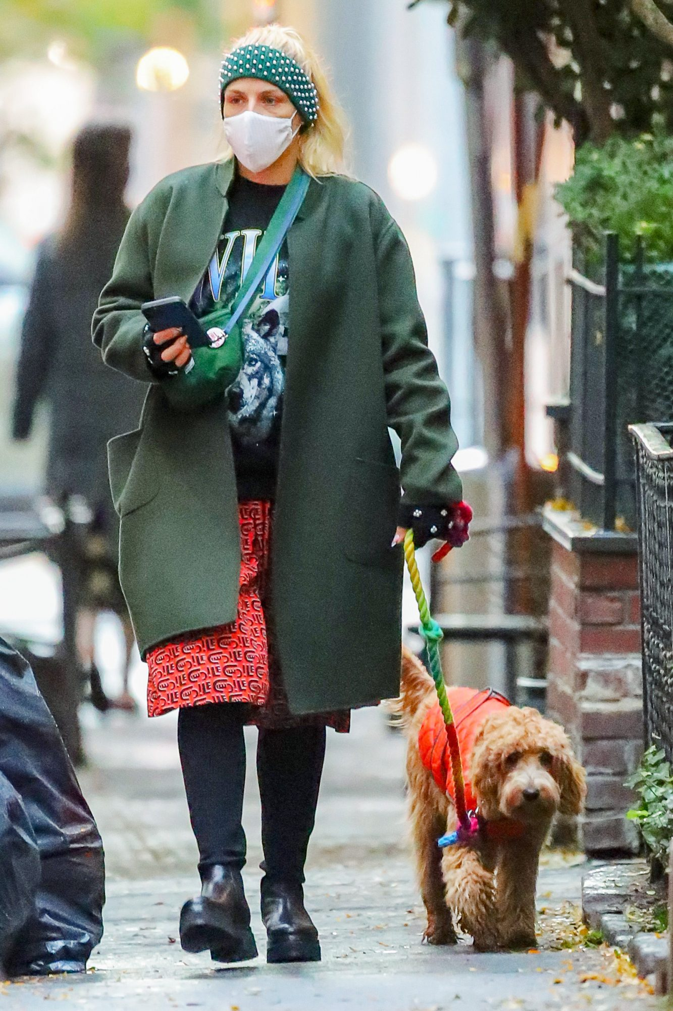 Busy Philipps Spotted Walking Around With Her Dog Gina In New York City