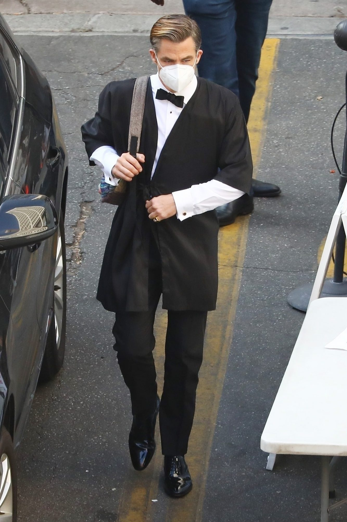 Chris Pine pictured on the set of 'Don't Worry Darling' in L.A.
