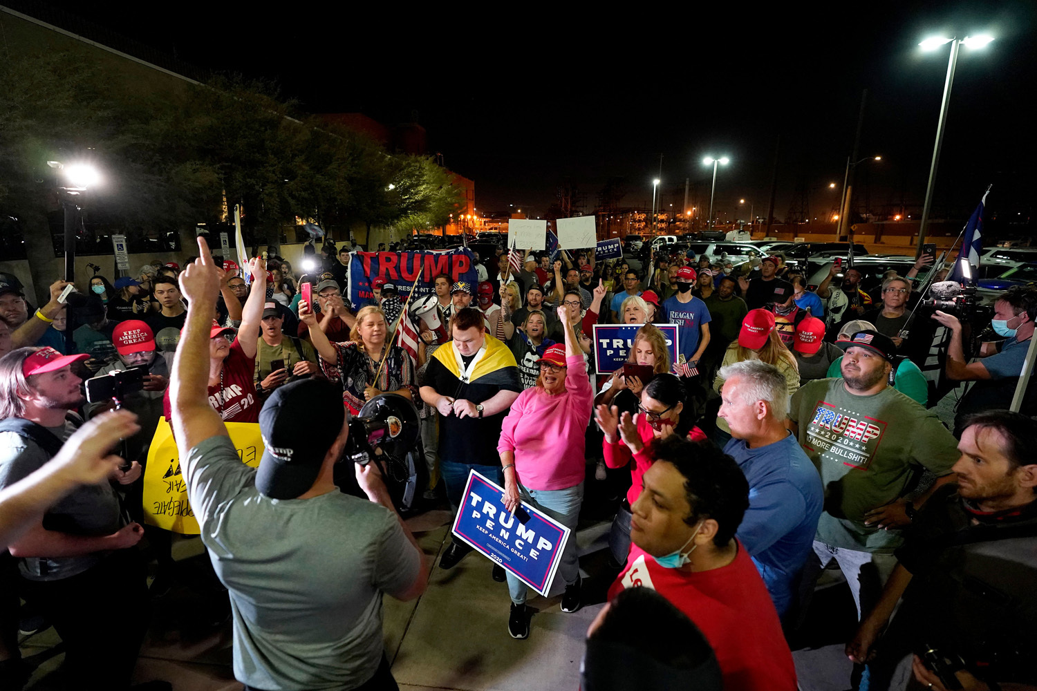 President Donald Trump supporters rally, outside the Maricopa County Recorders Office in Phoenix Election 2020 Protests