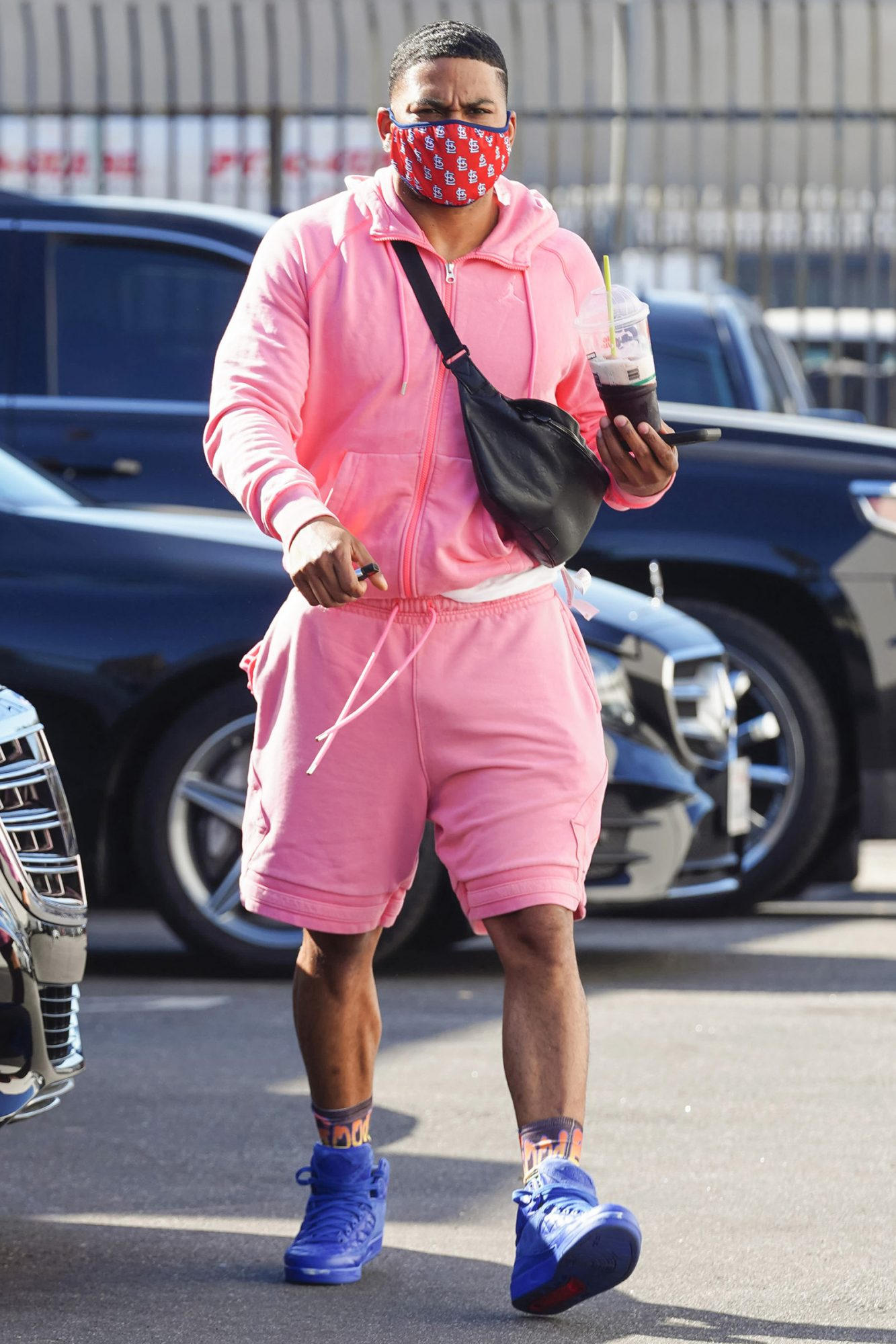 Nelly is seen outside 'Dancing with the Stars' rehearsal studio on November 04, 2020