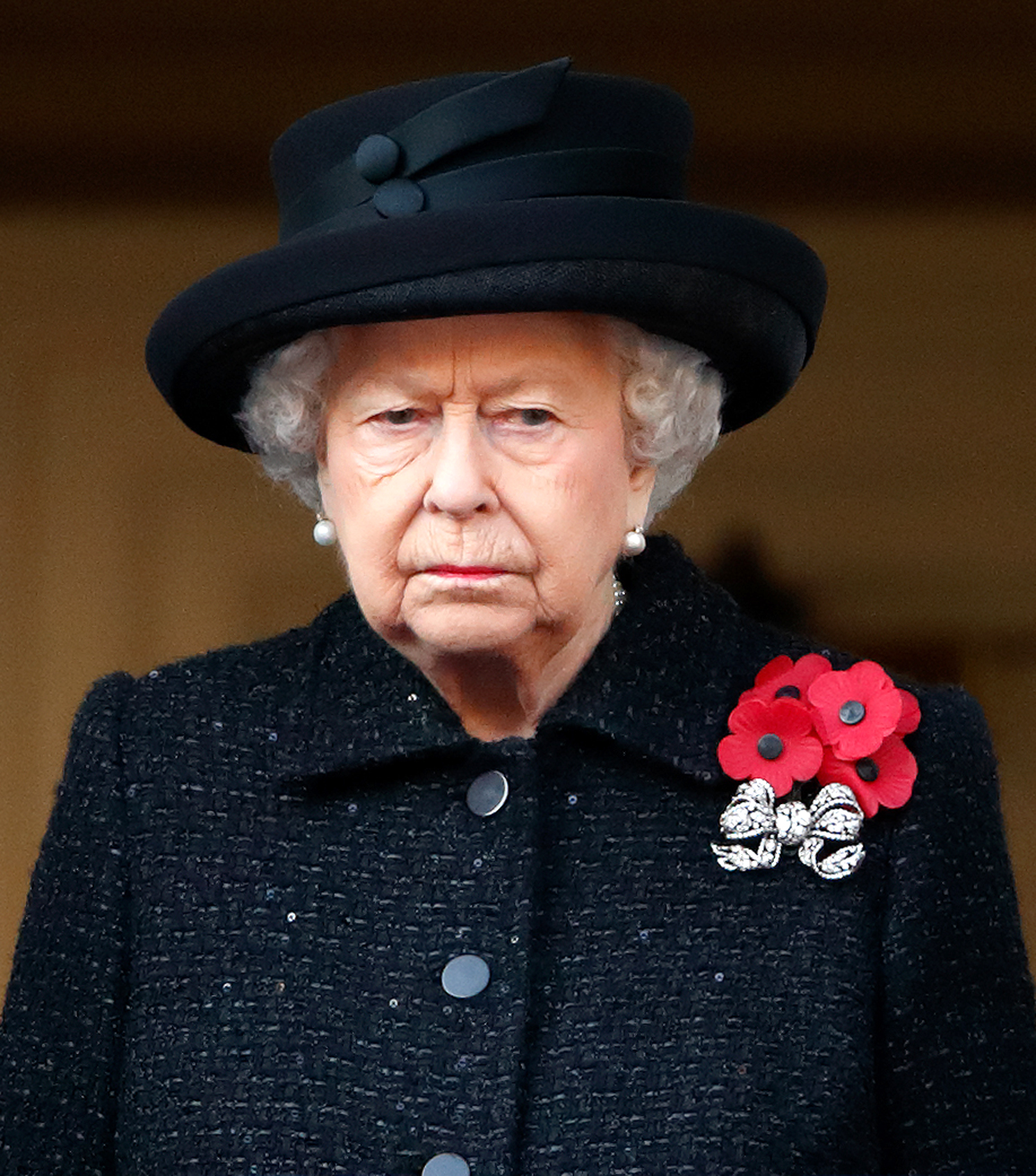 Queen Elizabeth II attends the annual Remembrance Sunday service at The Cenotaph