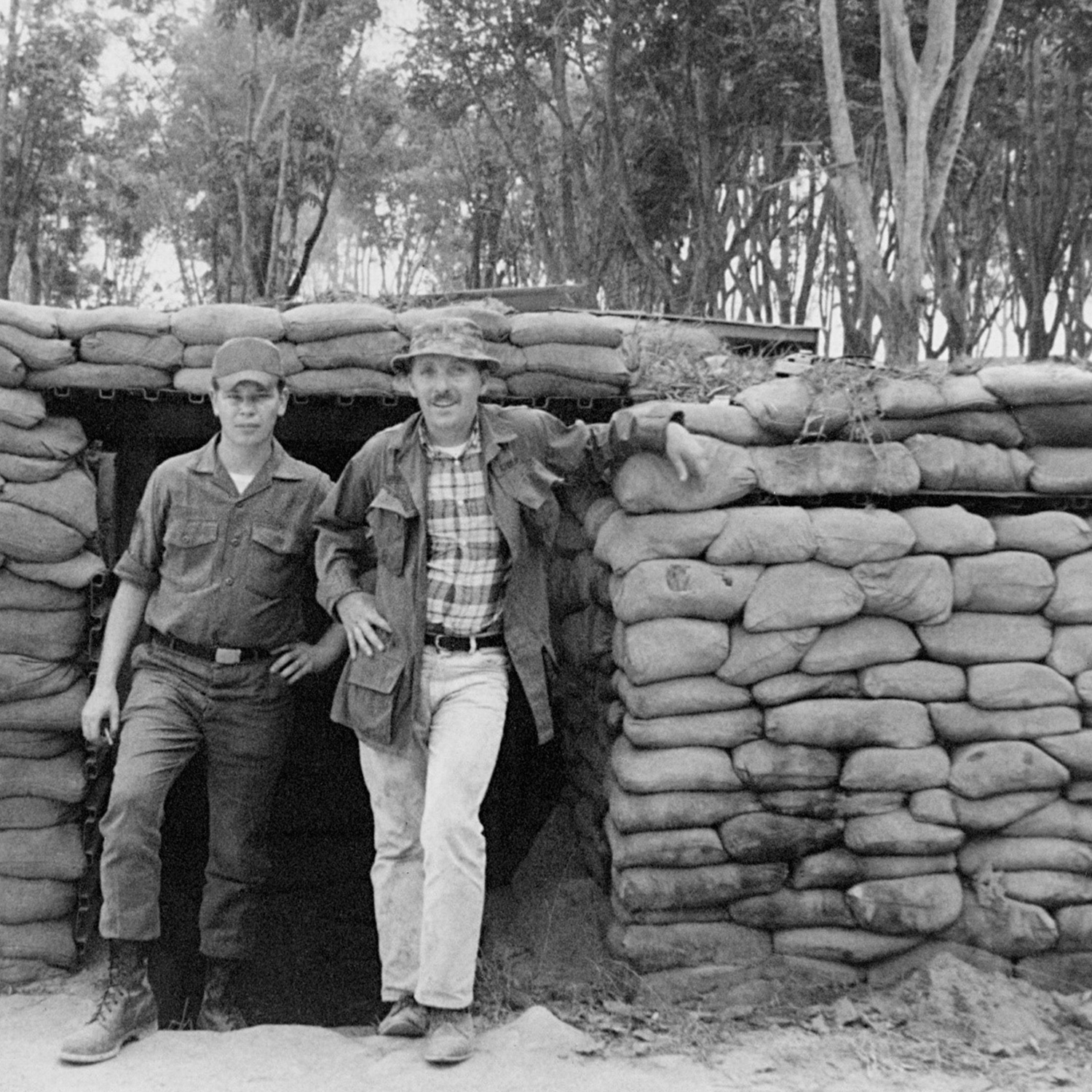 John 'Chick' Donohue with his friend Sgt. Bobby Pappas in Vietnam