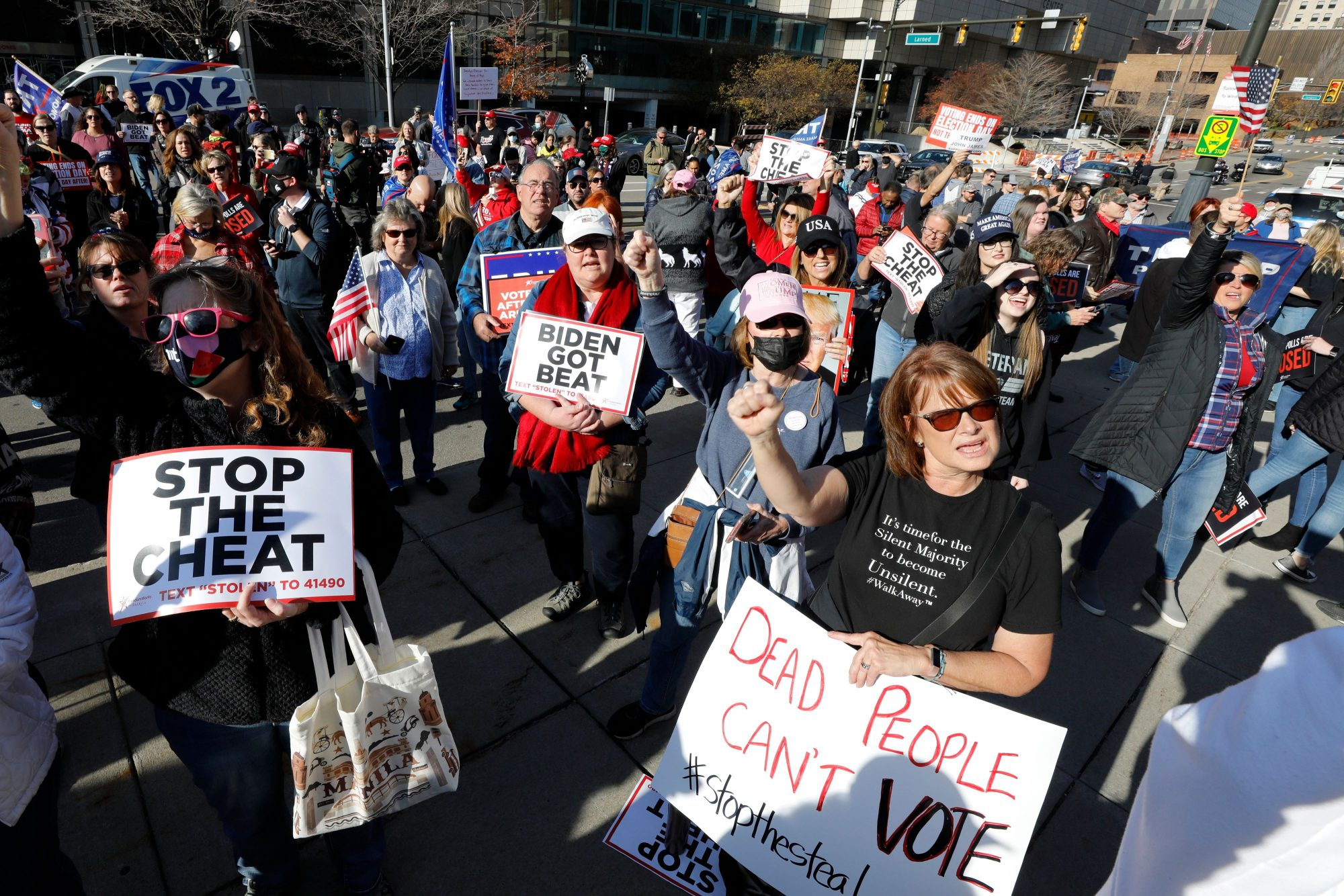 donald trump stop the cheat protesters in november 2020